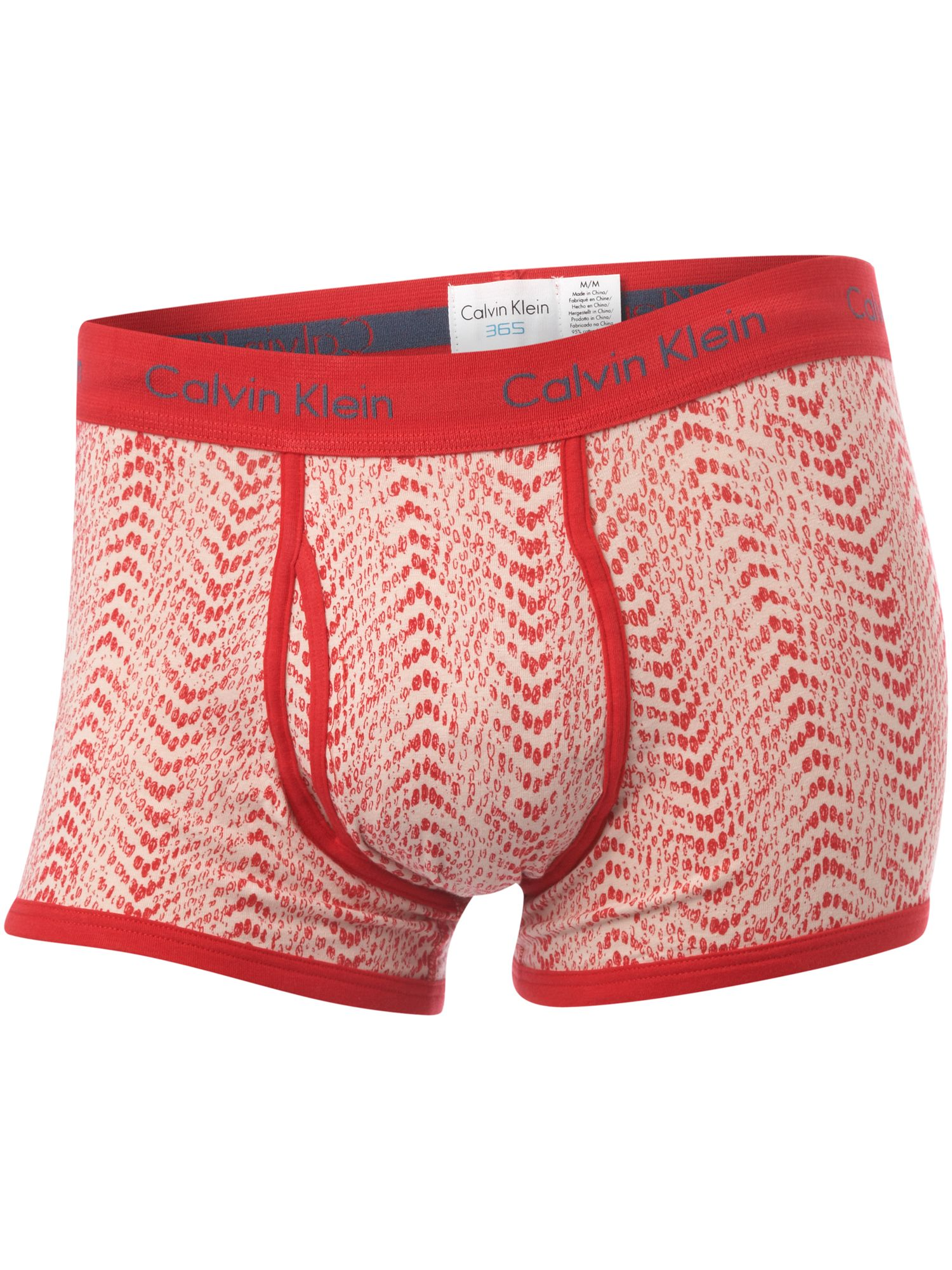Calvin Klein Red snaked 365 trunk Red