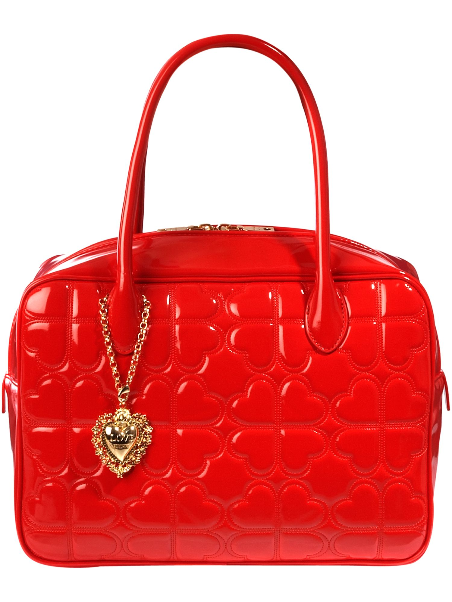 love moschino heart quilting medium leather review compare prices buy online. Black Bedroom Furniture Sets. Home Design Ideas