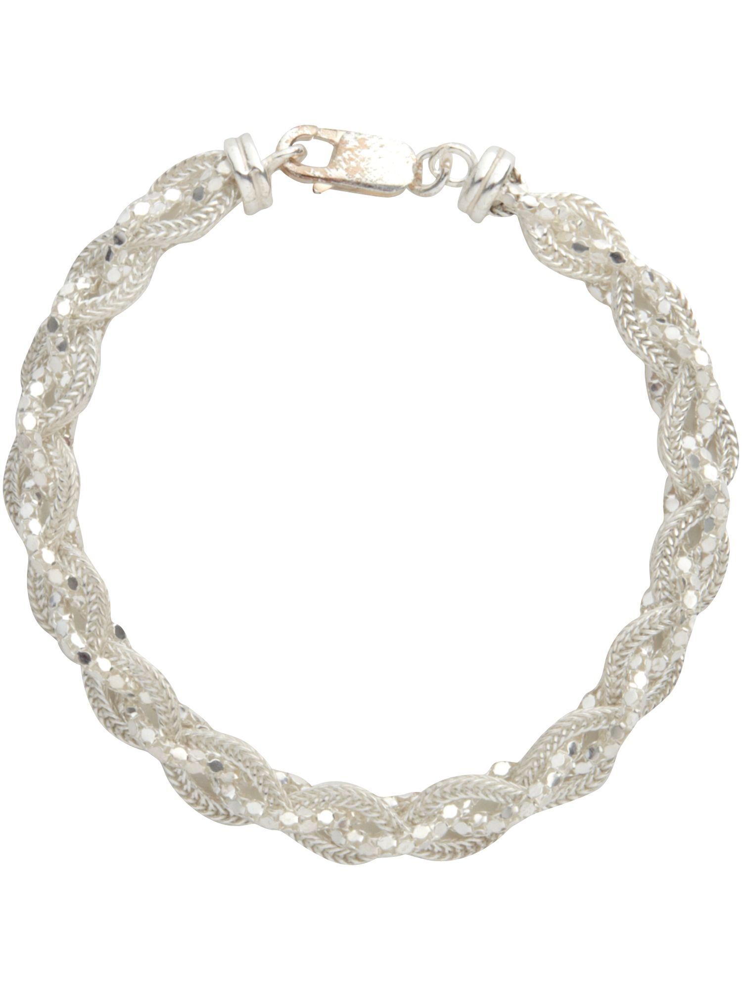 Twist chain sterling silver bracelet