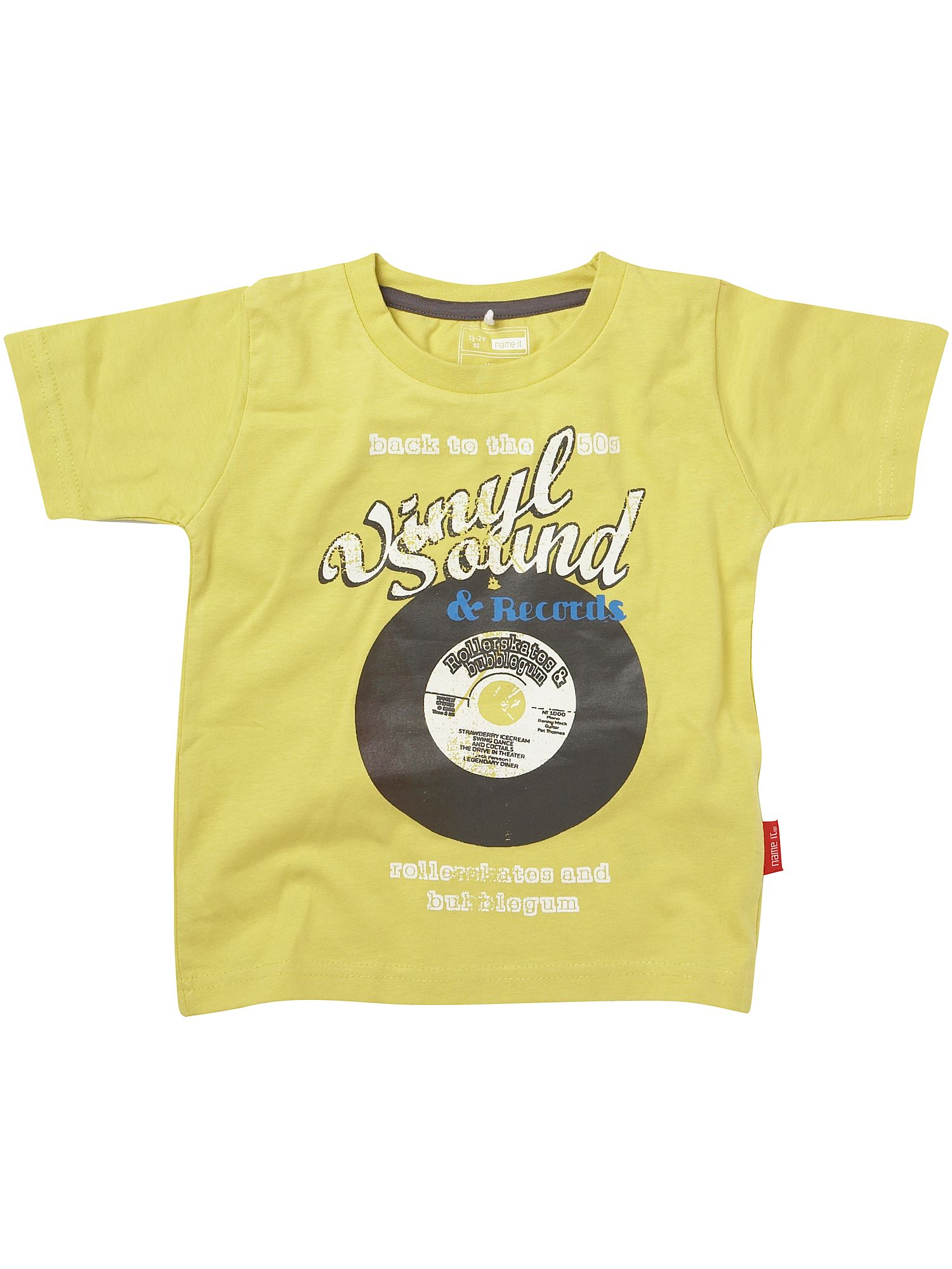 Name It Short-sleeved record print T-shirt Yellow product image
