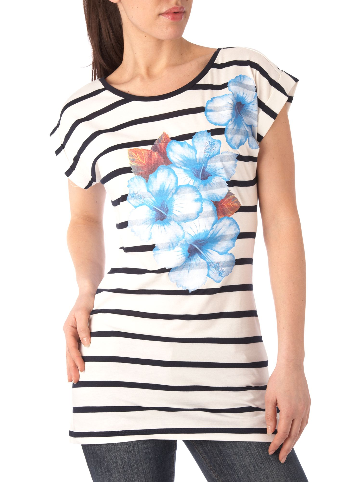 Therapy Floral stripe placement t-shirt product image
