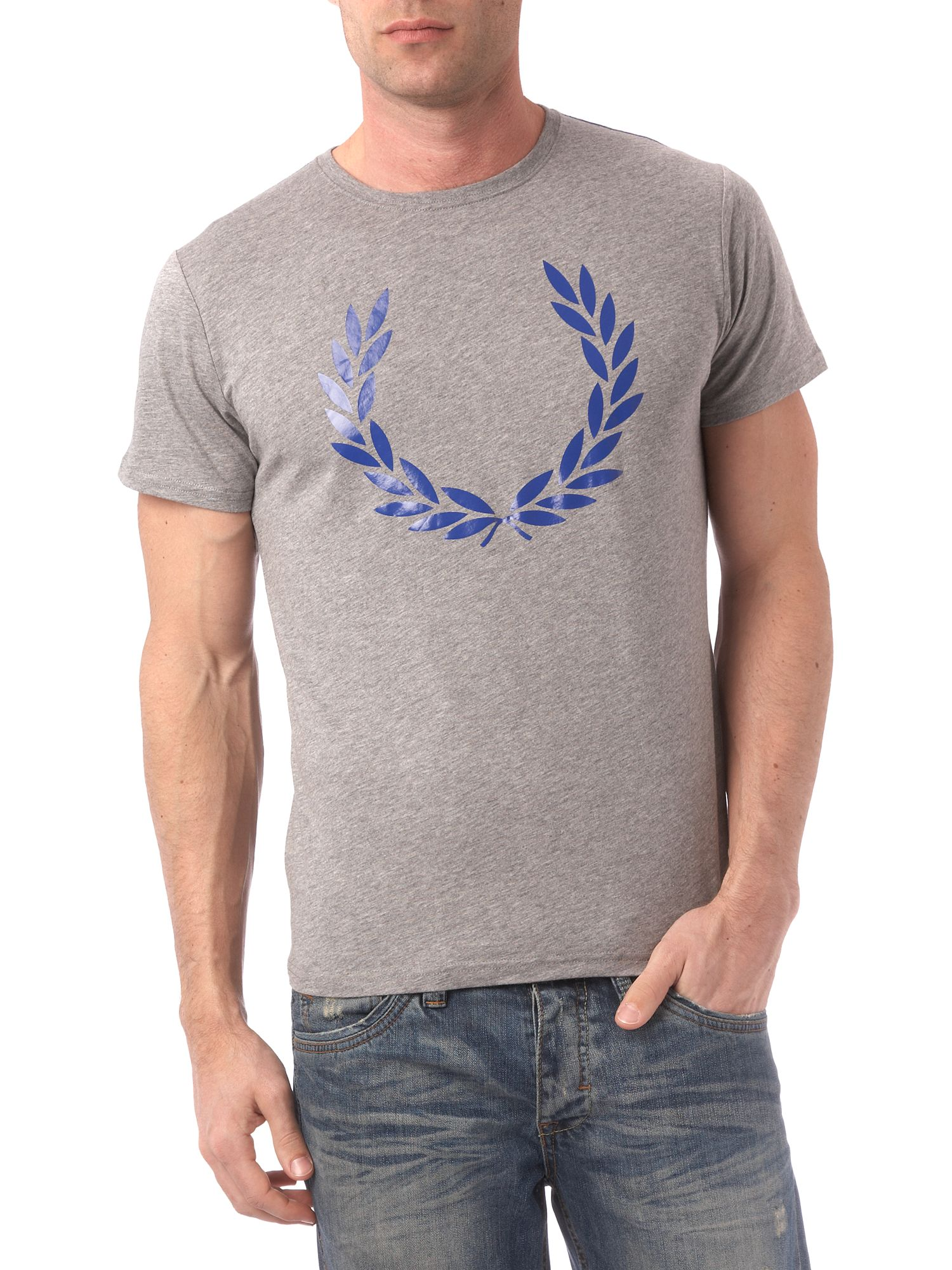 Fred Perry Laurel logo printed crew neck T-shirt product image
