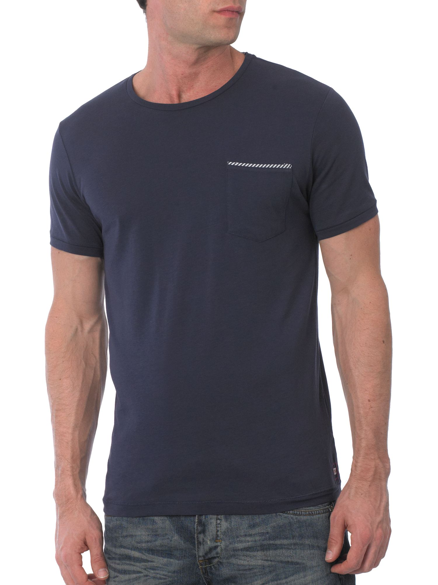 Selected Short sleeve tipped pocket T-shirt Blueberry product image