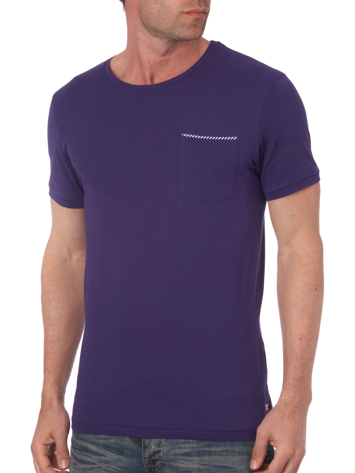 Selected Short sleeve tipped pocket T-shirt Purple product image