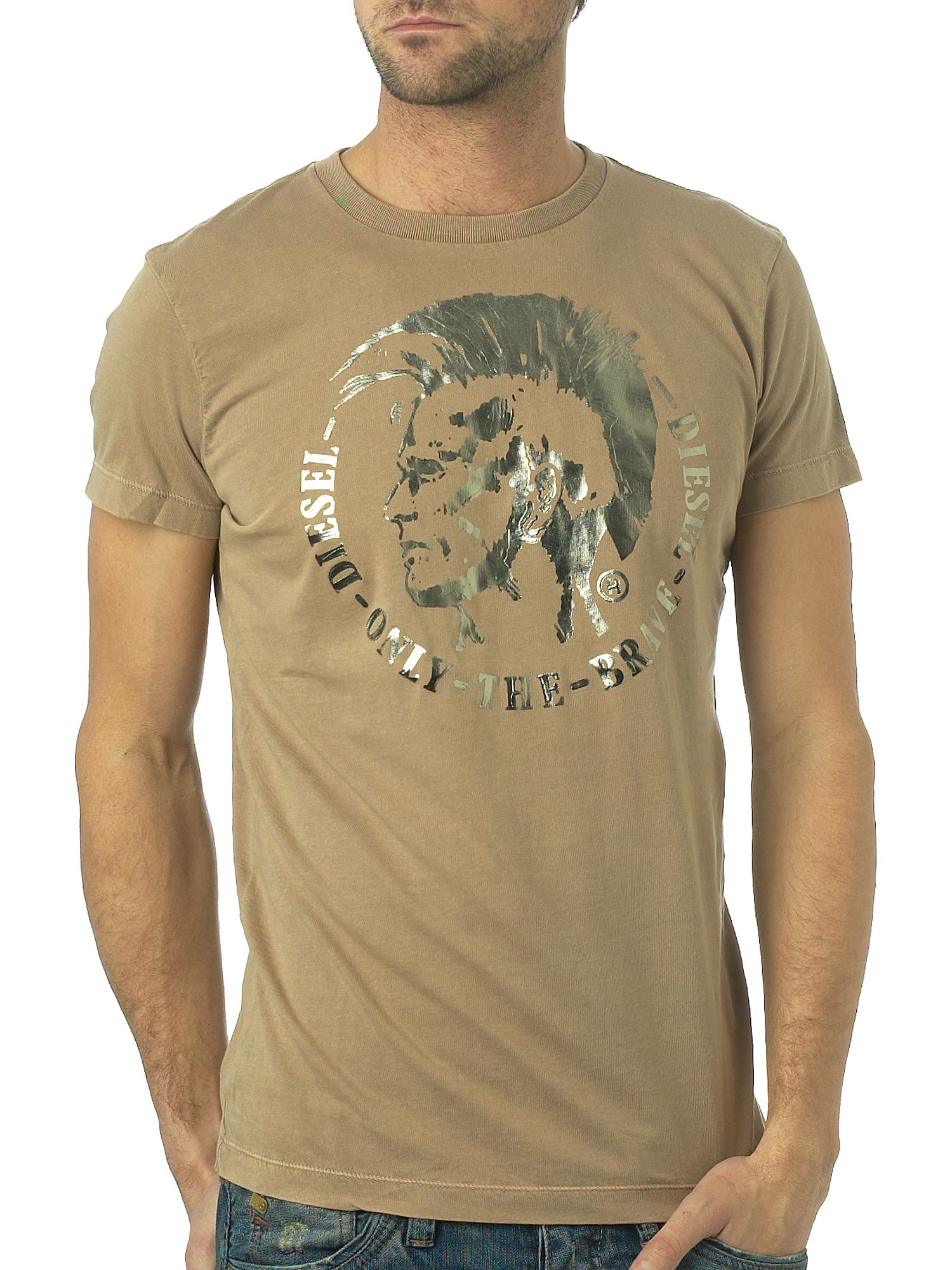 Diesel Foil t-shirt Light Brown product image