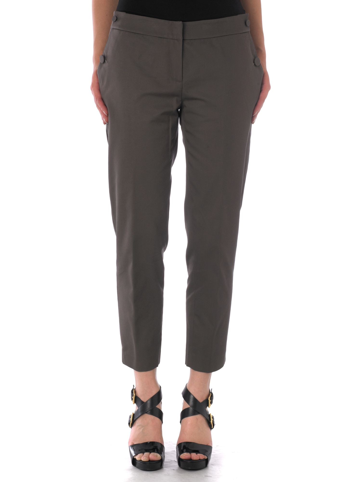 Untold Sateen crop trouser Grey