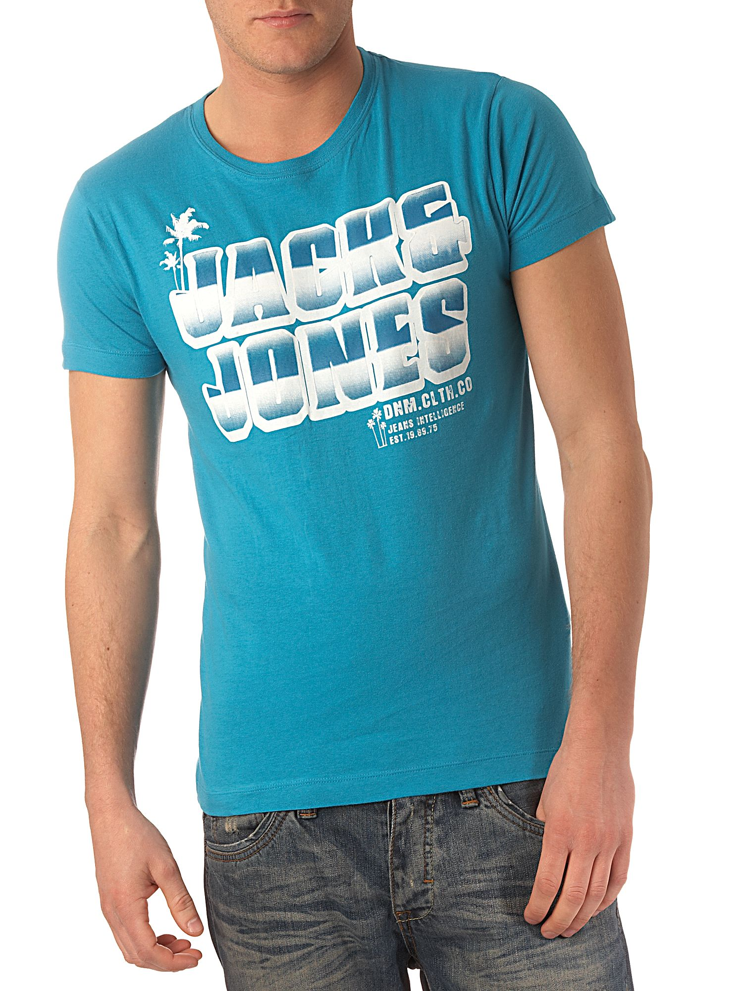 Jack & Jones Logo front T-shirt Aqua product image