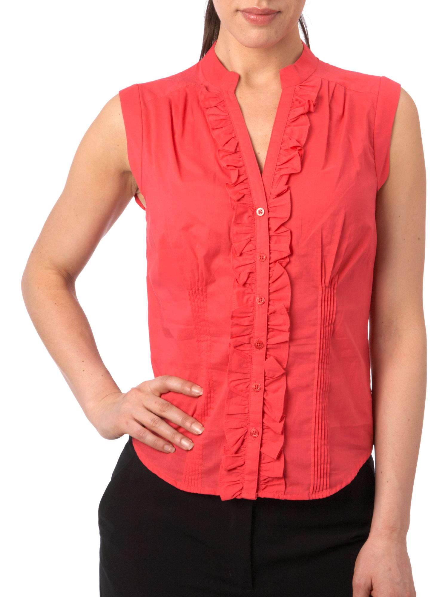 Linea Ruffle blouse - Coral 16,16,18,18 product image