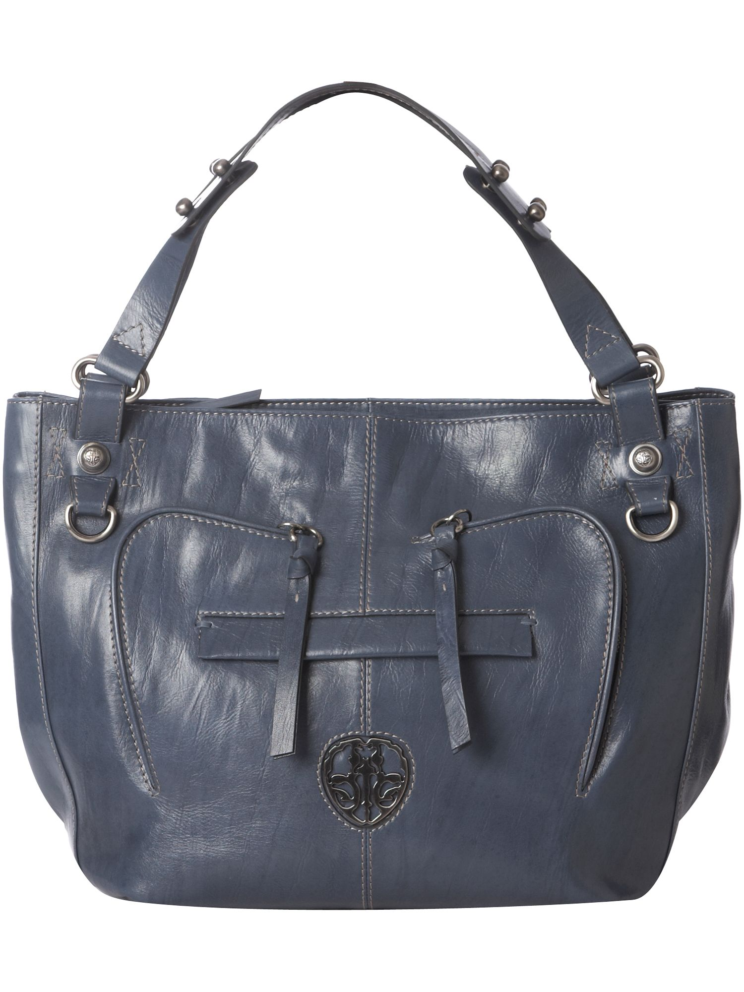 Ameko Jet Large leather tote bag. product image