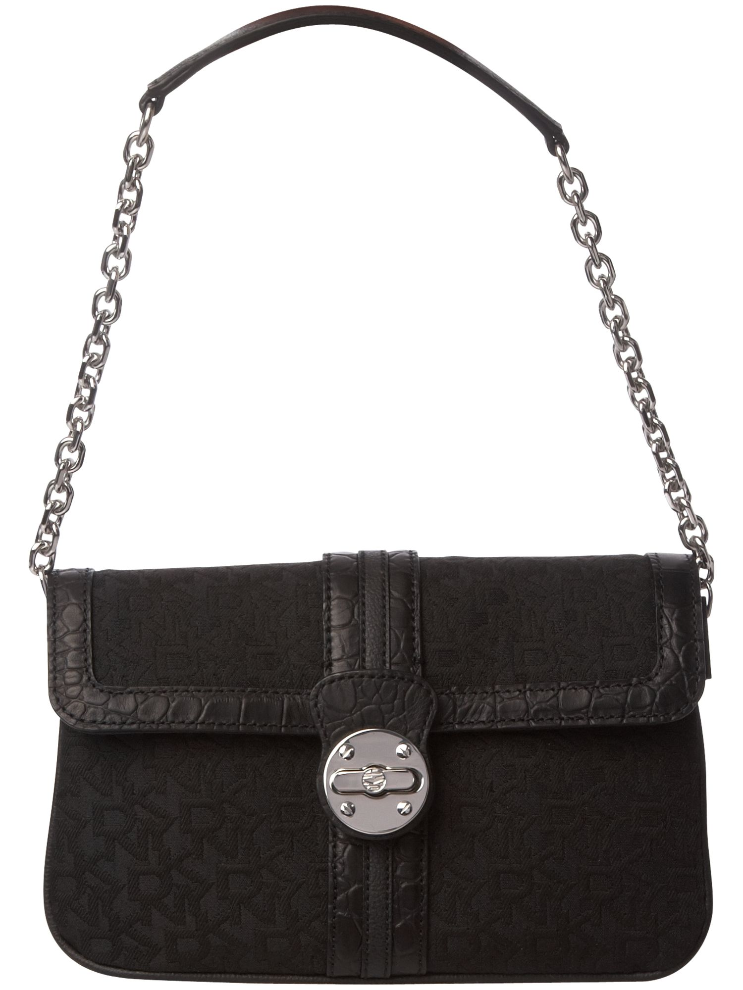 DKNY Turnlock Town and Country nylon flapover bag product image