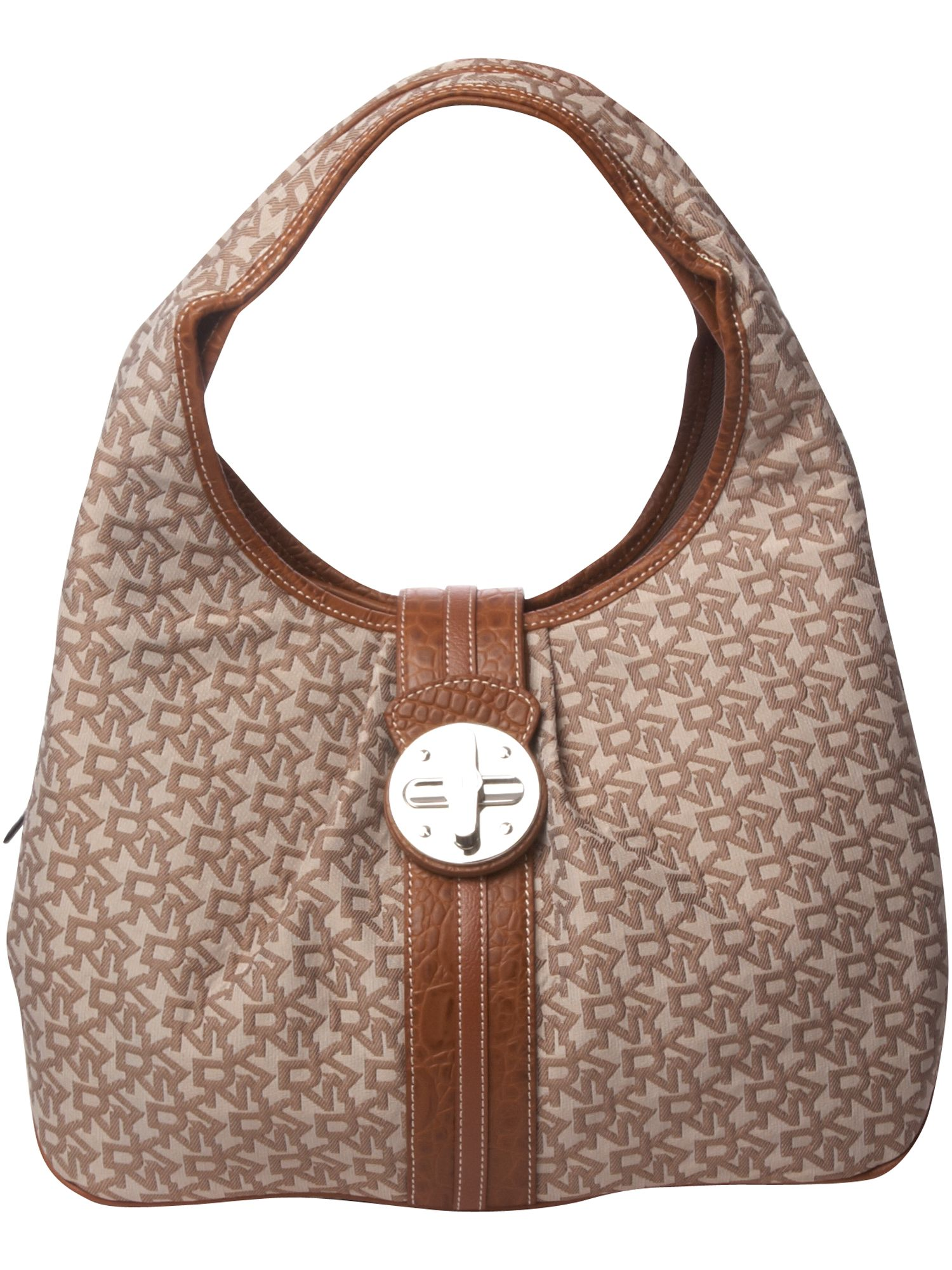 DKNY Turnlock Town and Country large nylon hobo product image