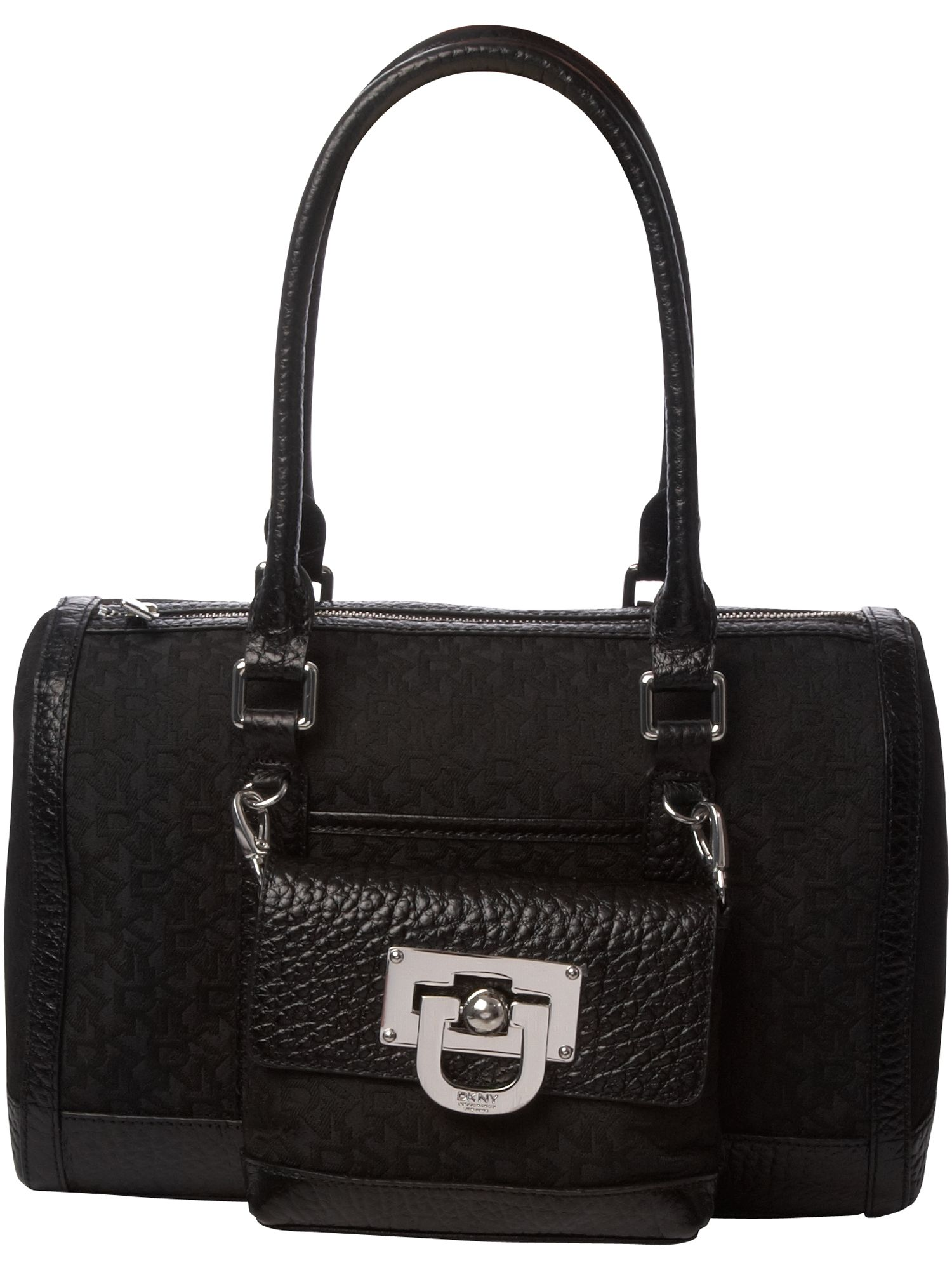 DKNY Grain Calf Town and Country nylon bowling bag product image