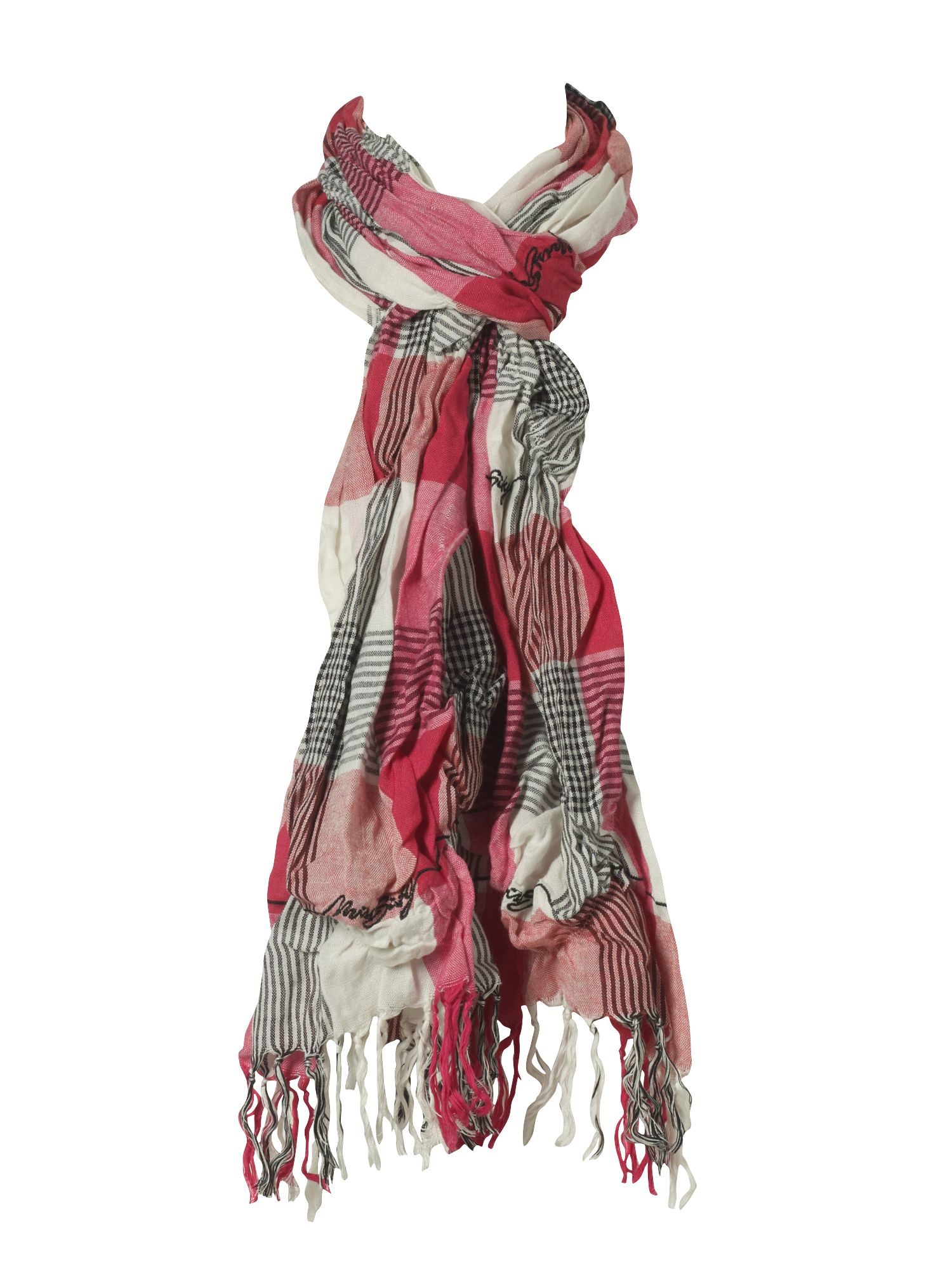 Miss Sixty Wanchairoad plaid scarf with string