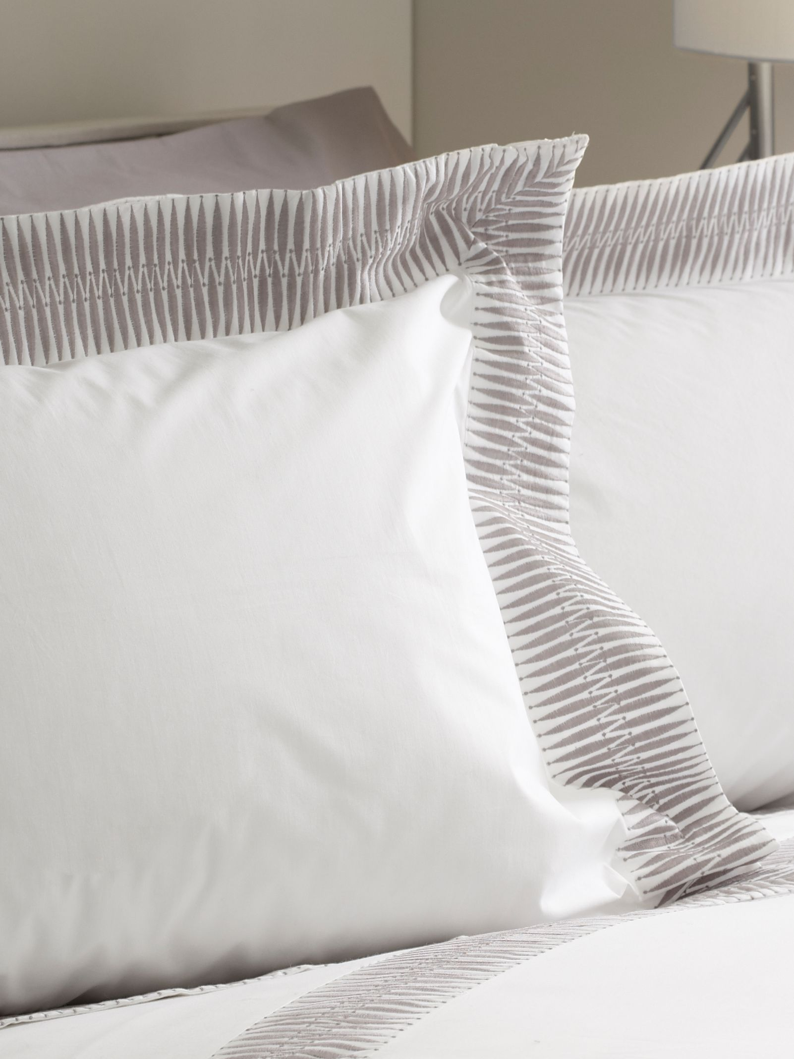 Montagu grey oxford pillowcase