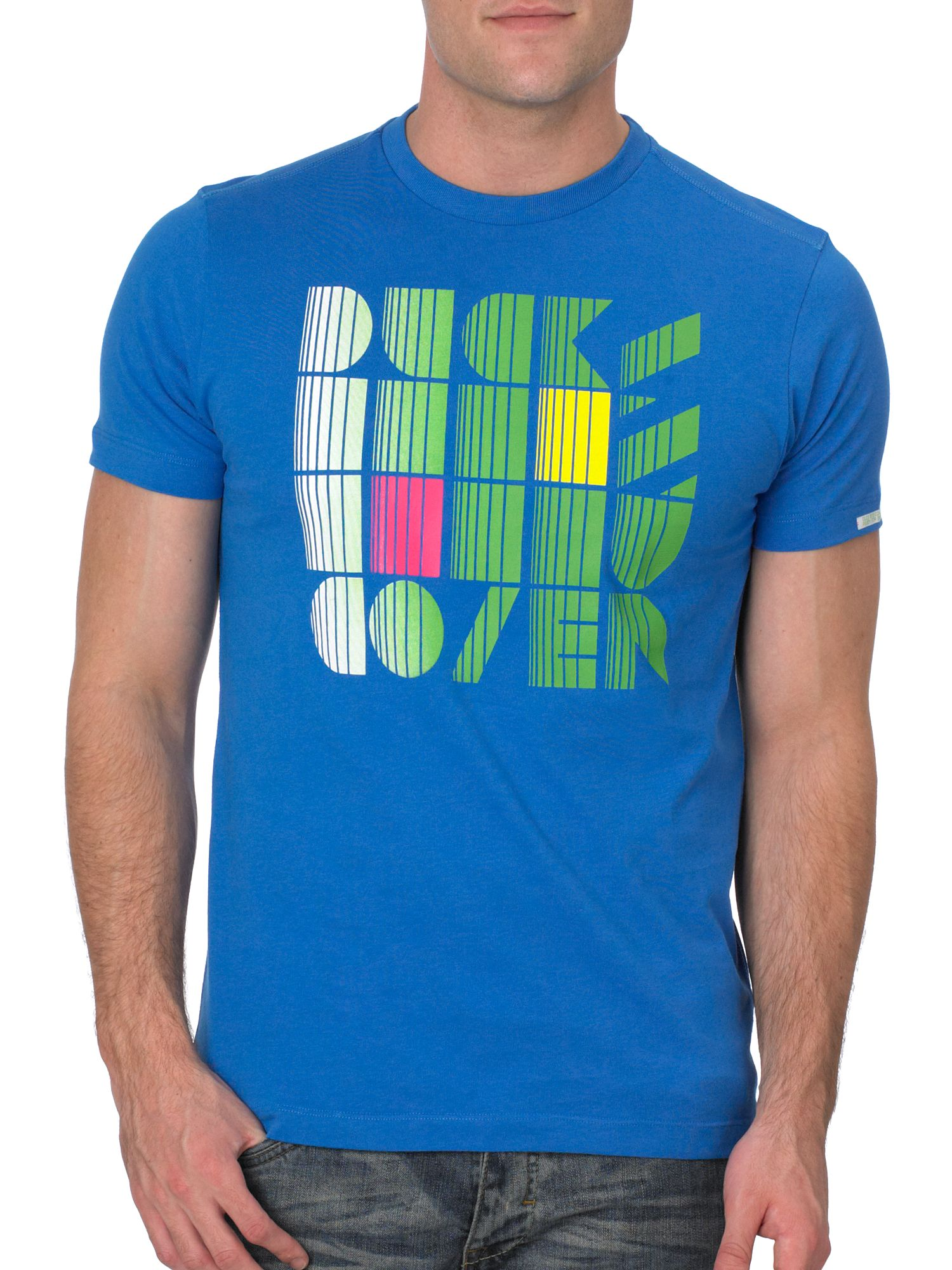 Duck and Cover Short-sleeved techno print t-shirt Sapphire product image