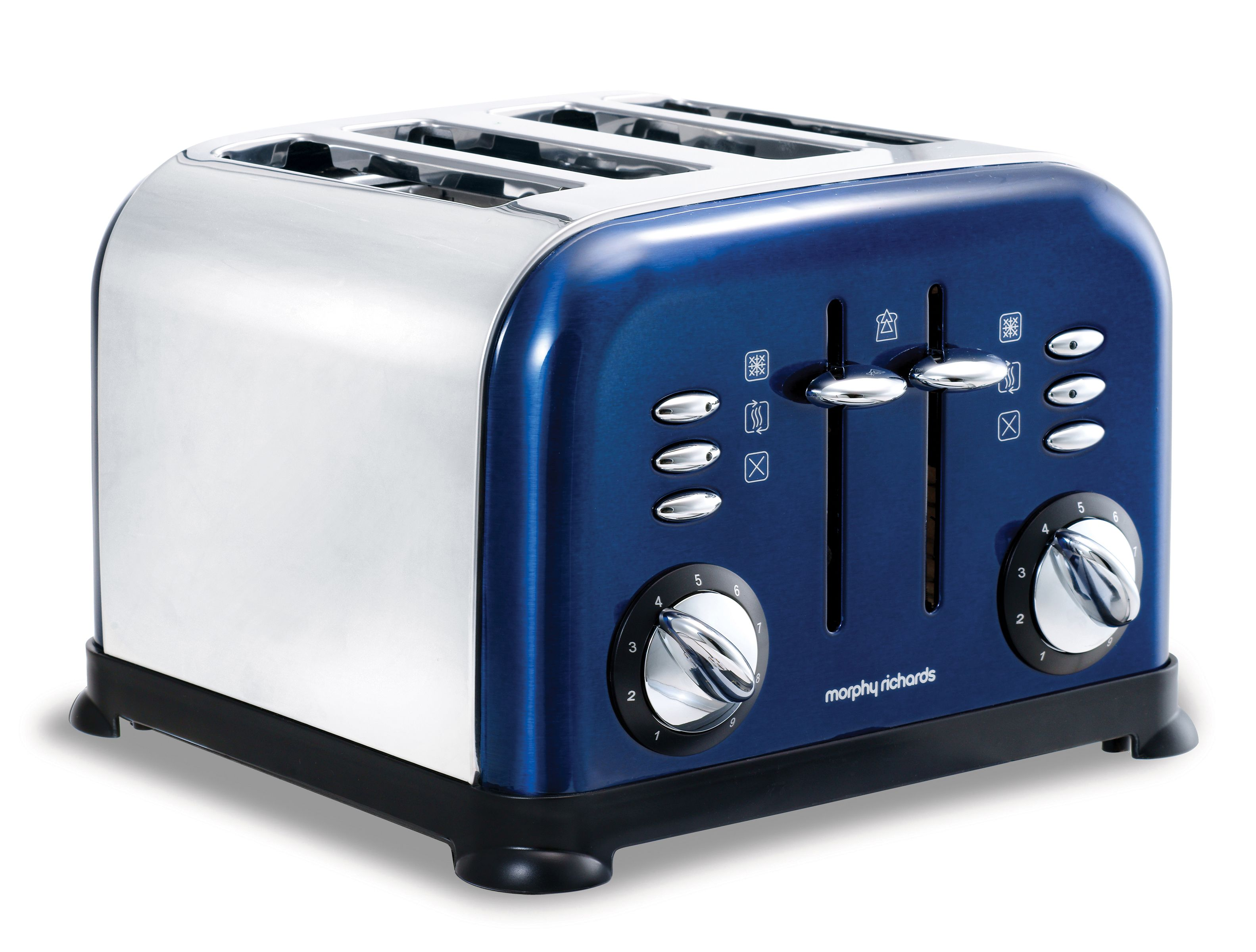 44730 blue accents 4 slice toaster