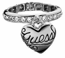 Guess Puff heart ring, Silver