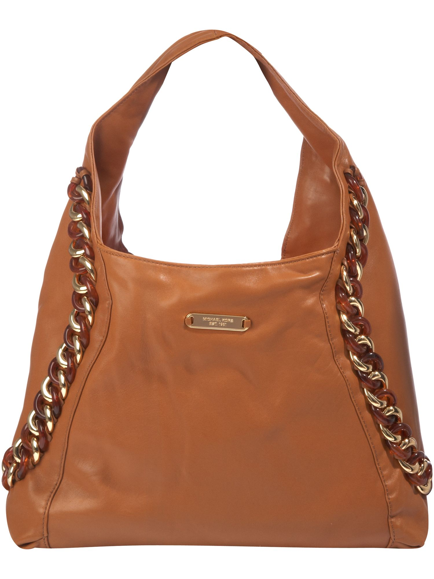michael kors id chain large leather hobo bag review. Black Bedroom Furniture Sets. Home Design Ideas