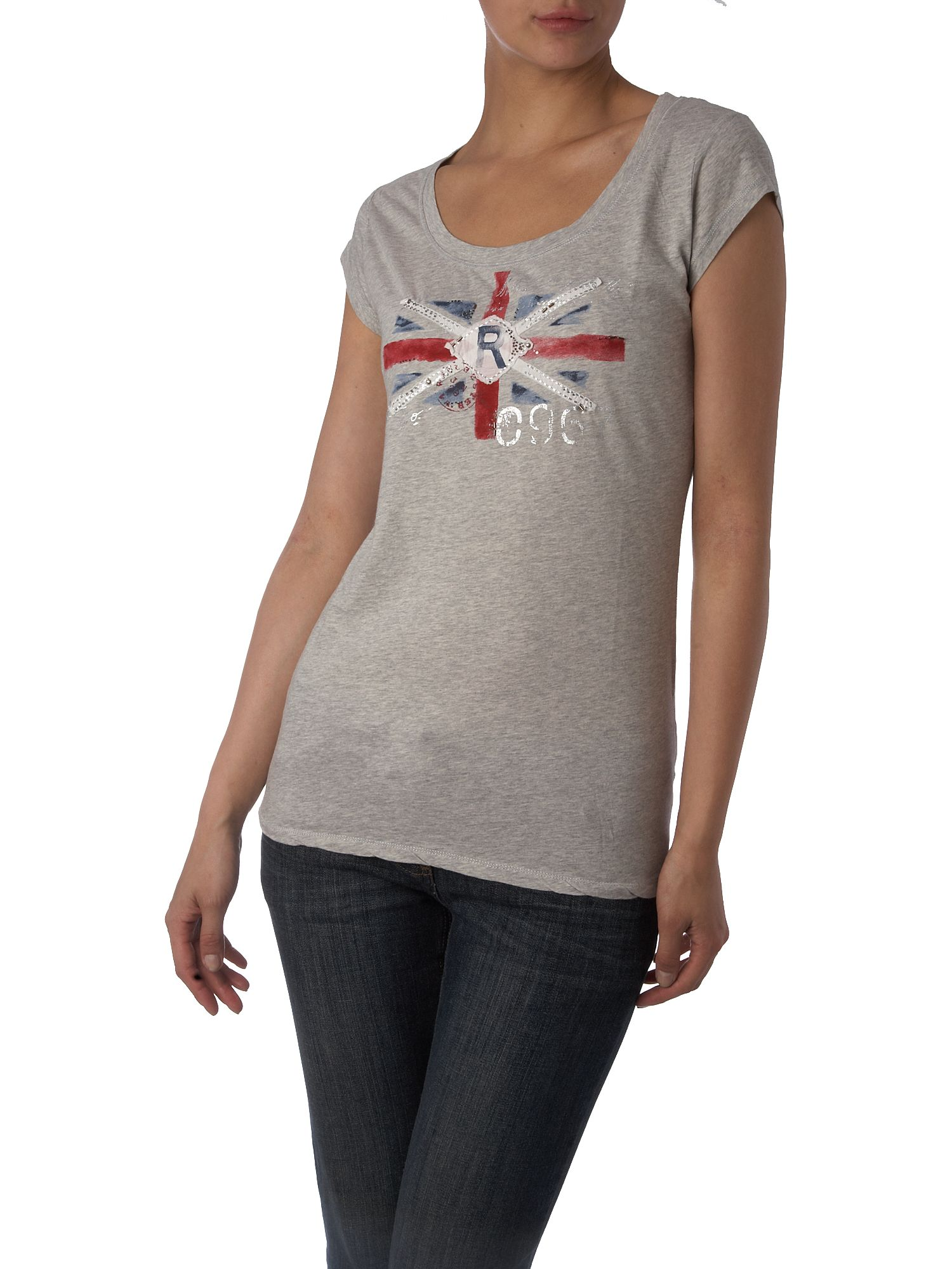 Polo Jeans Round neck tee with flag print Grey product image