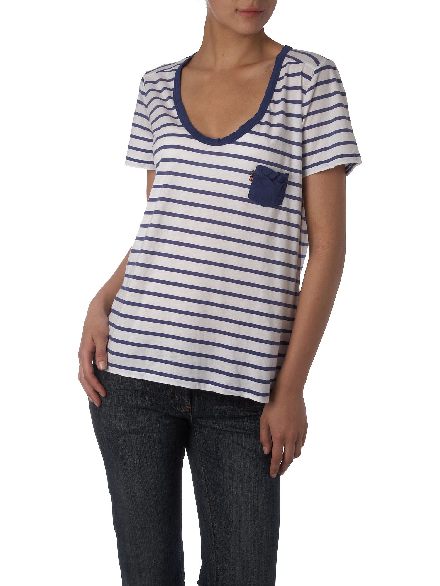 Polo Jeans Striped scoop neck tee White product image