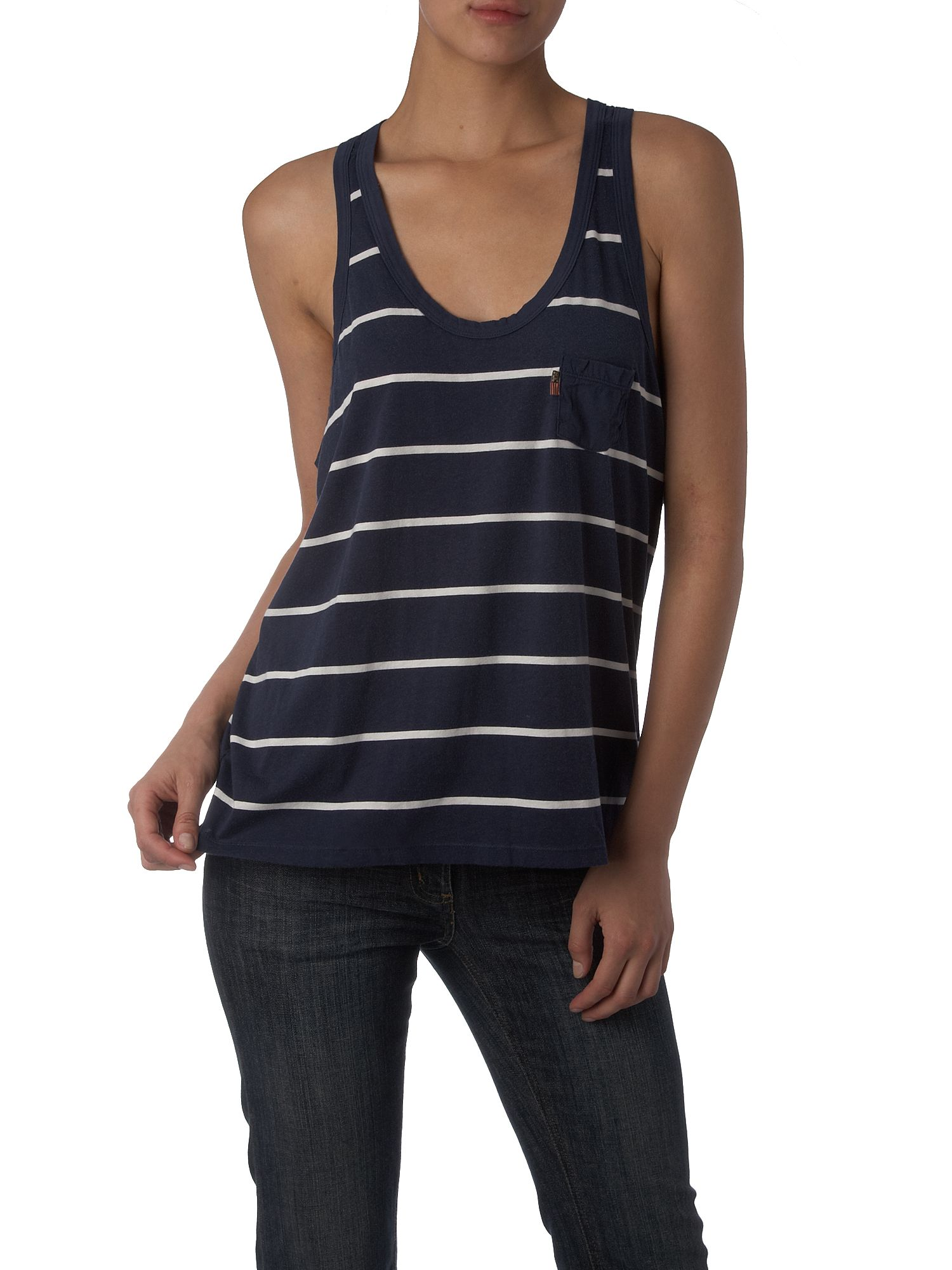 Polo Jeans Striped tank tee Navy product image