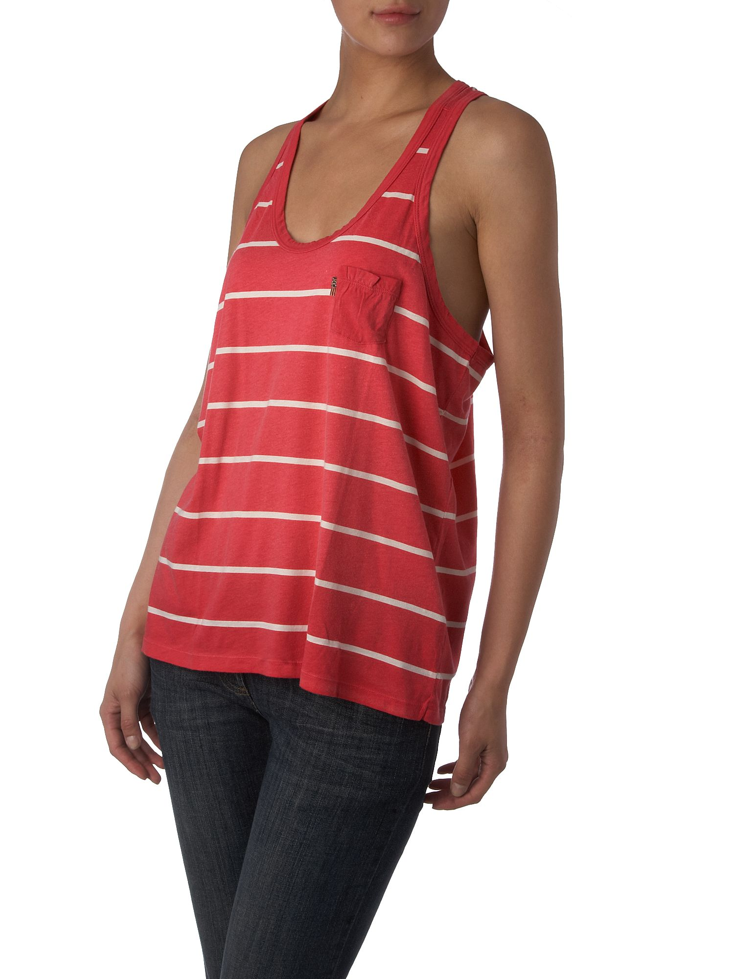 Polo Jeans Striped tank tee Pink product image