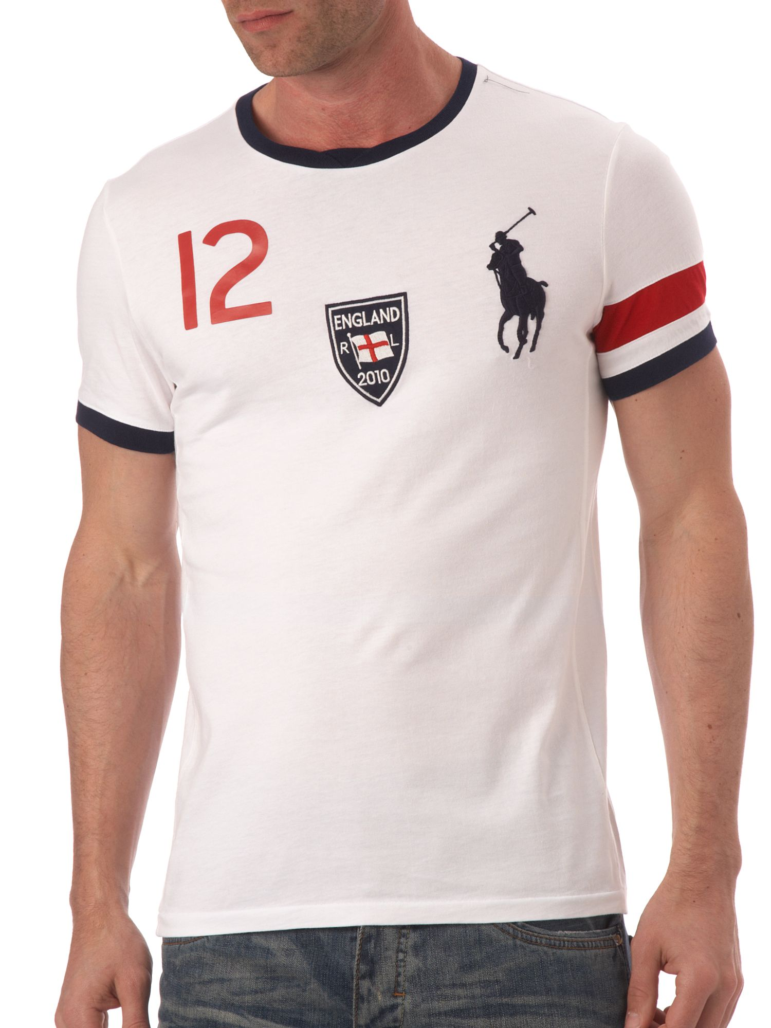 Ralph Lauren England custom fitted T-shirt White product image