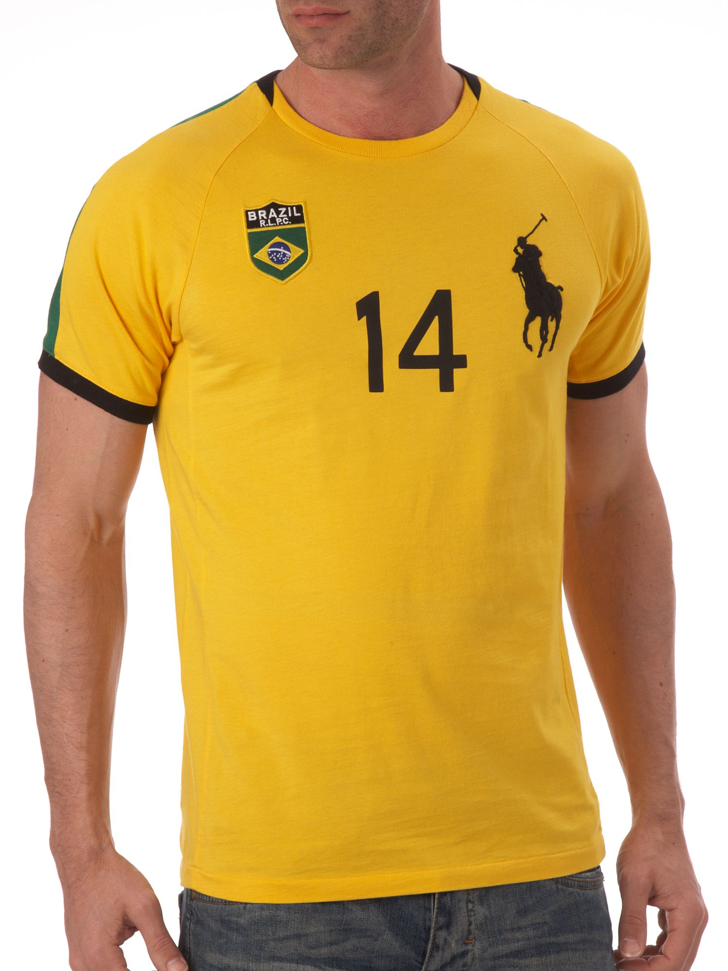 Ralph Lauren Brazil custom fitted T-shirt Yellow product image
