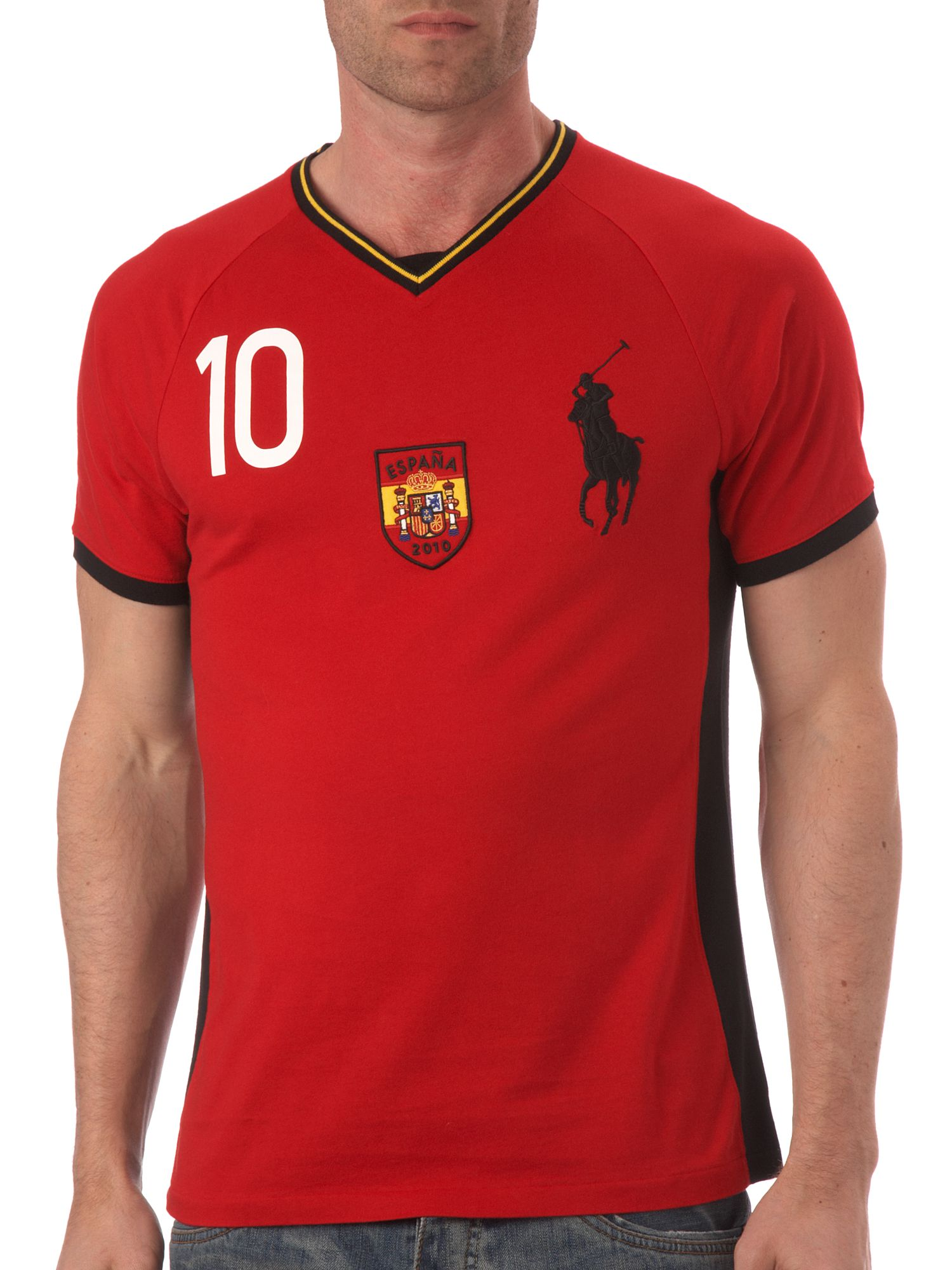 Ralph Lauren Spain custom fitted T-shirt Red product image