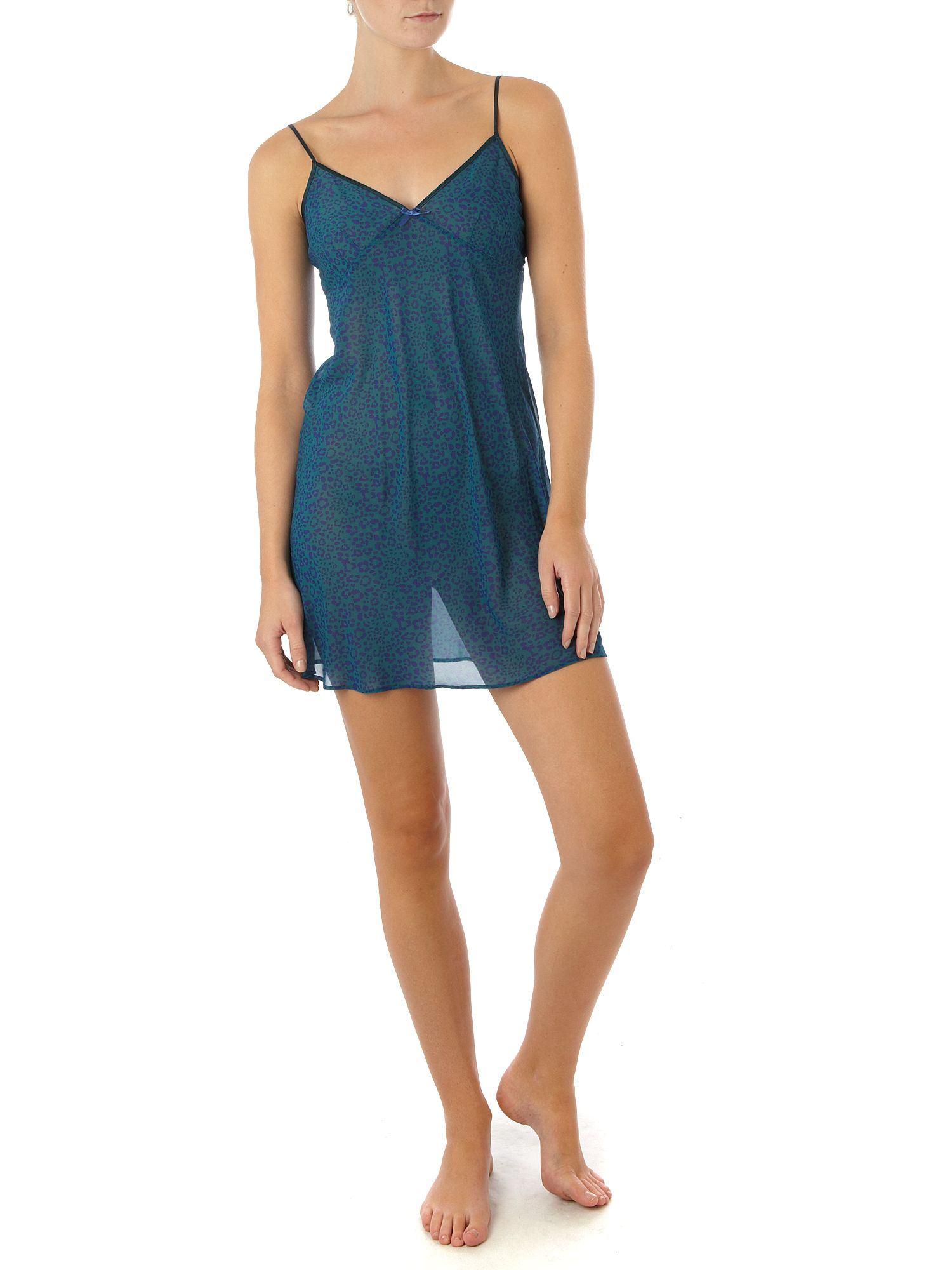Elle Macpherson Intimates Summer Meadows Chemise Teal product image