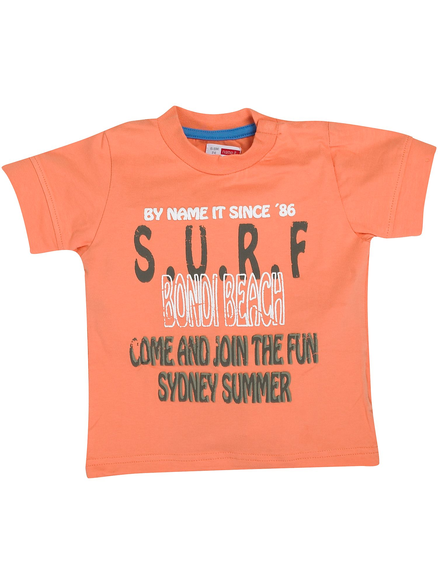 Name It Short-sleeved surf print T-shirt Orange product image
