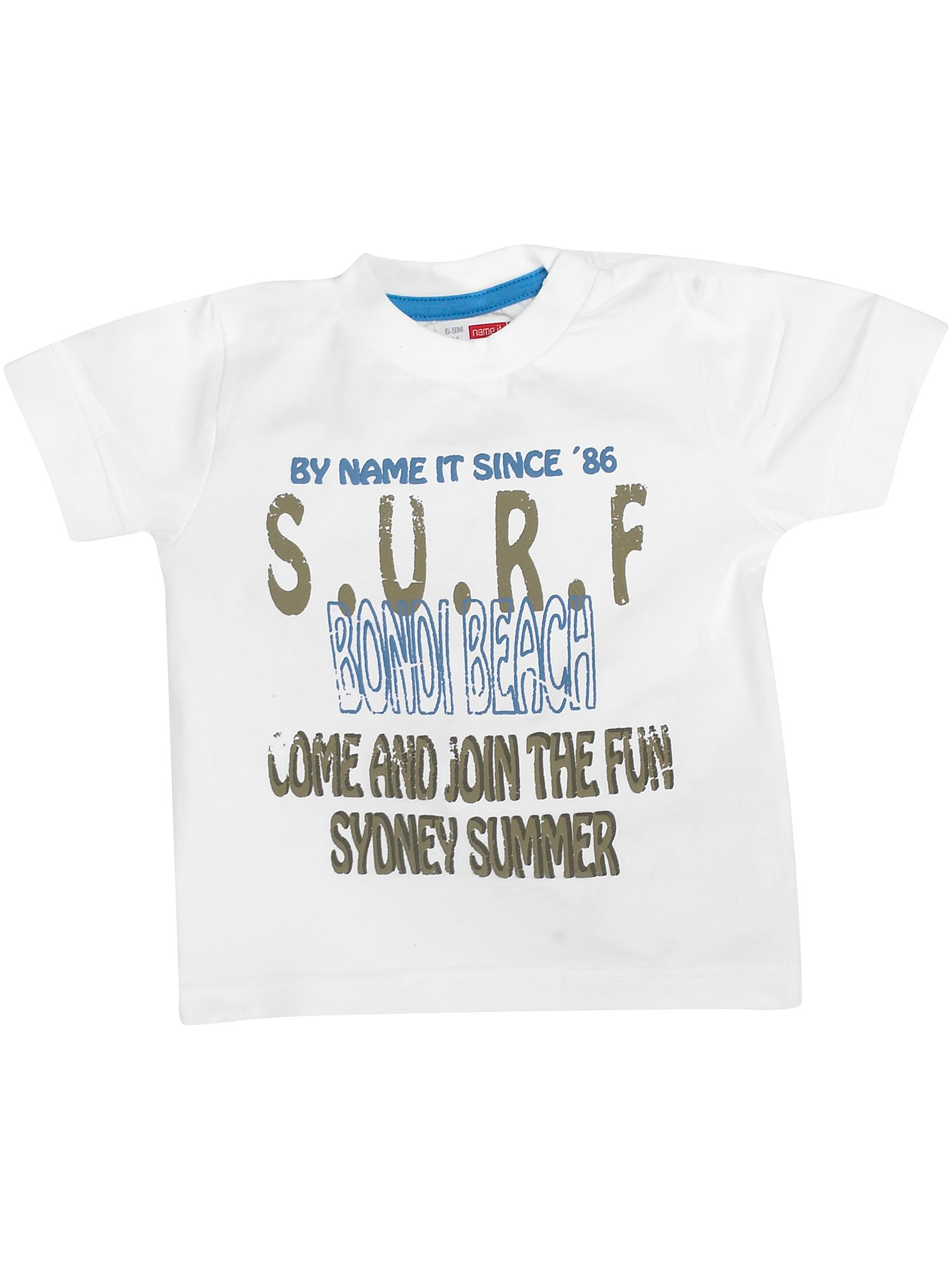 Name It Short-sleeved surf print T-shirt White product image