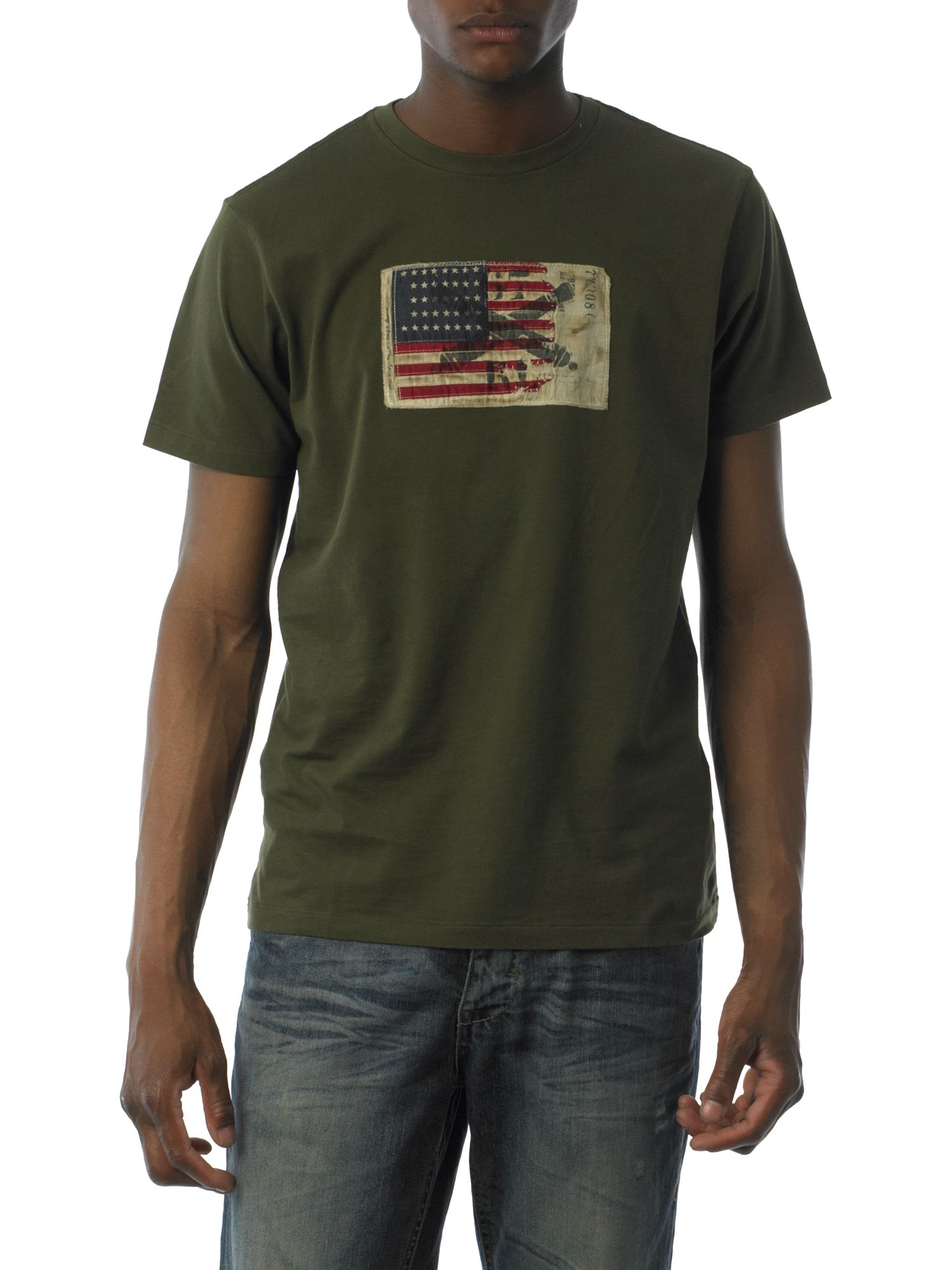 Polo Jeans Flag applique T-shirt Olive product image