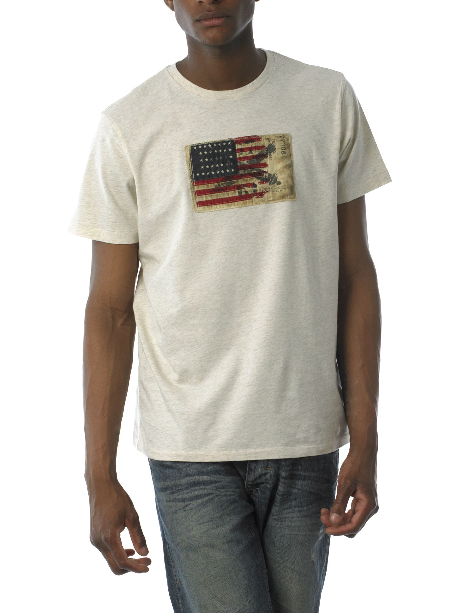 Polo Jeans Flag applique T-shirt Cream product image