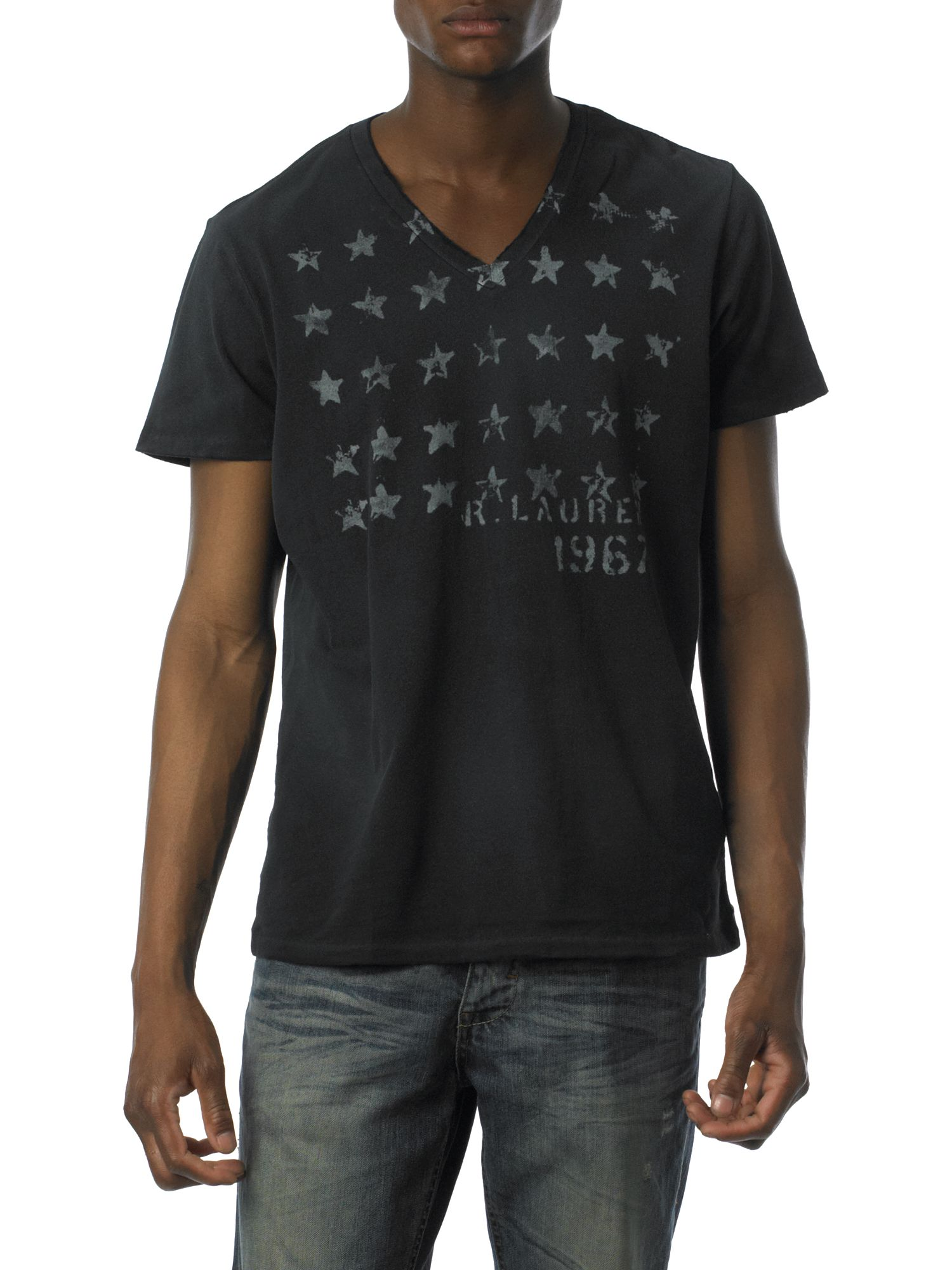 Polo Jeans V-neck stars T-shirt Black product image