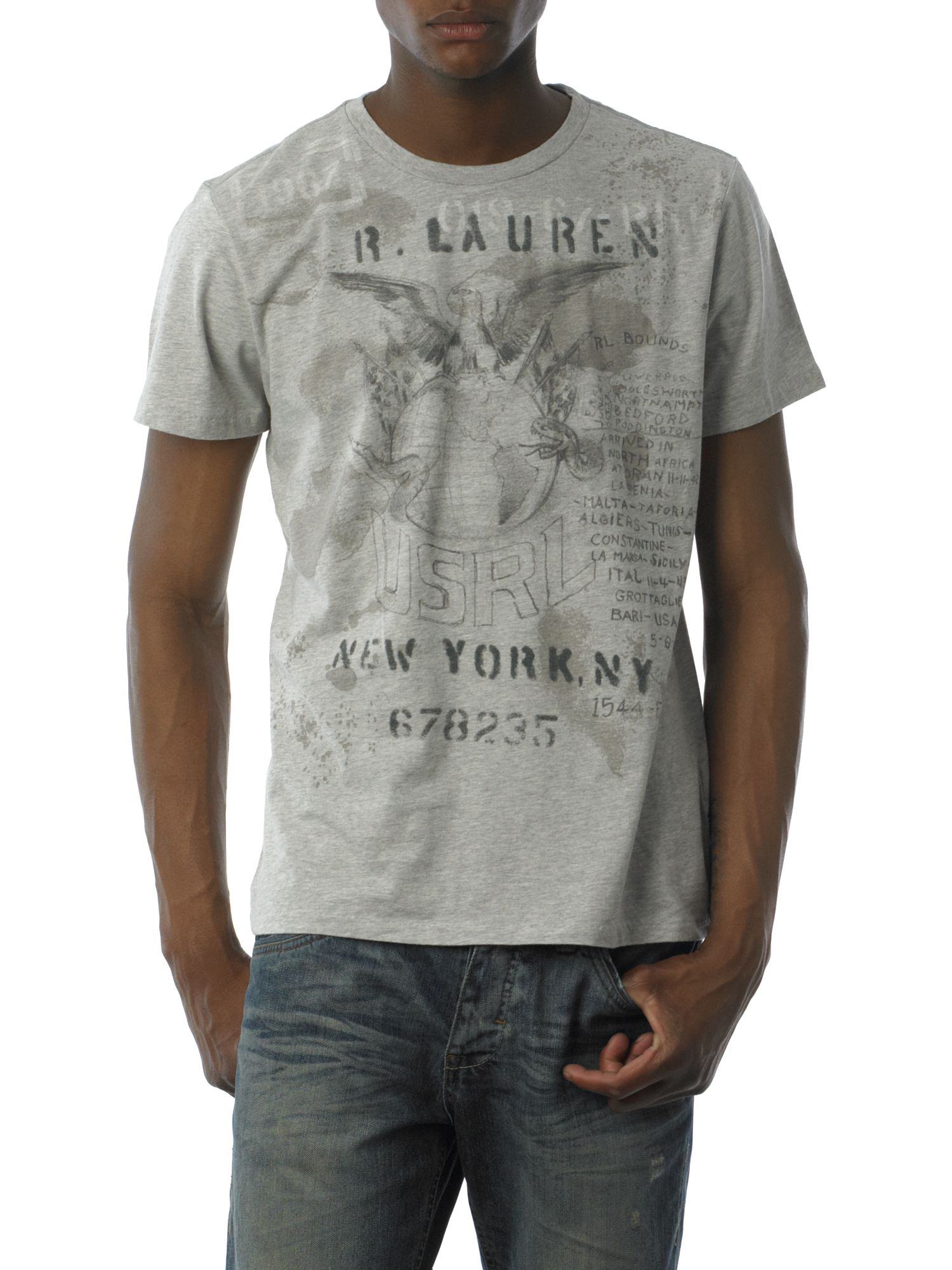 Polo Jeans Kennedy army print T-shirt Grey product image
