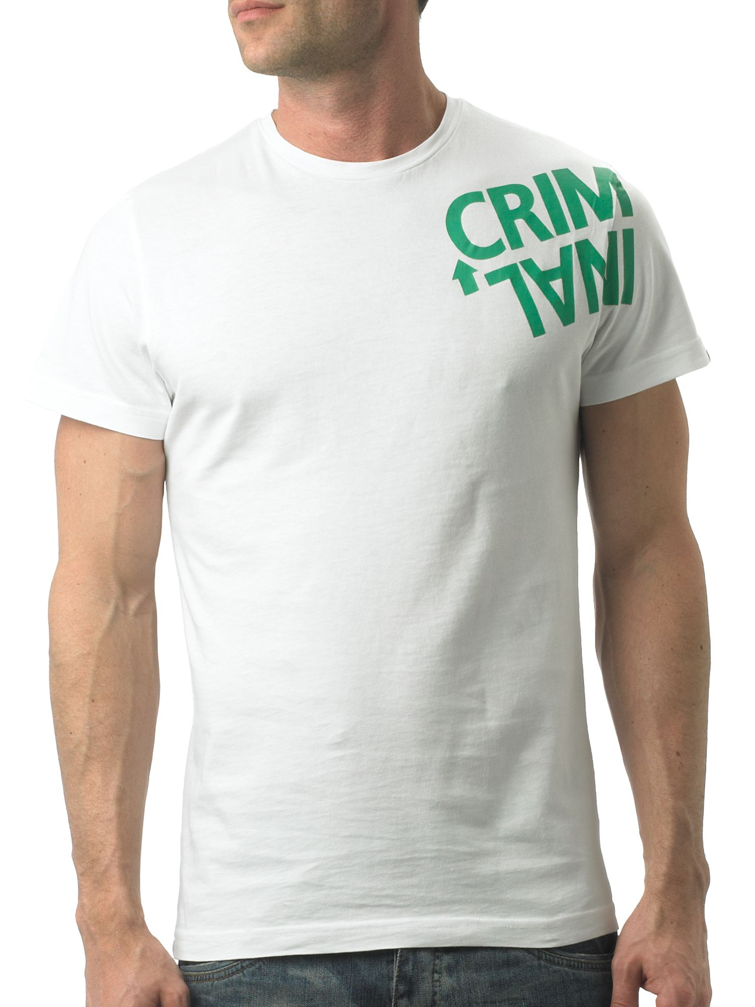Criminal Twisted logo print crew-neck T-shirt - Charcoal product image