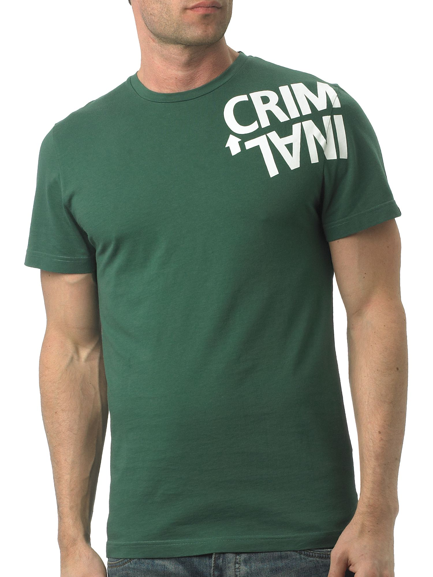 Criminal Twisted logo print crew-neck T-shirt Forest product image