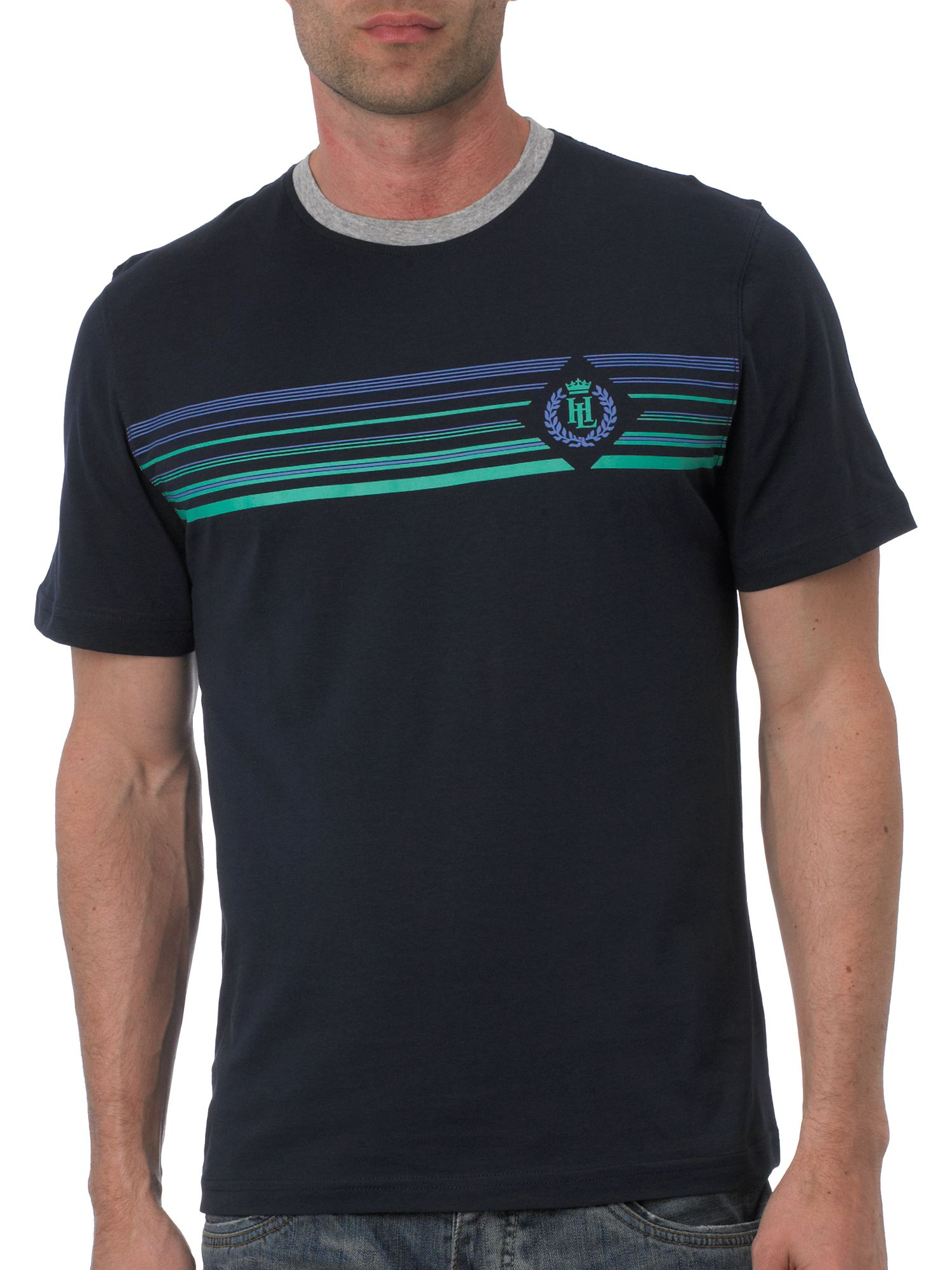 Henri Lloyd Short sleeve stripe logo t-shirt Navy product image