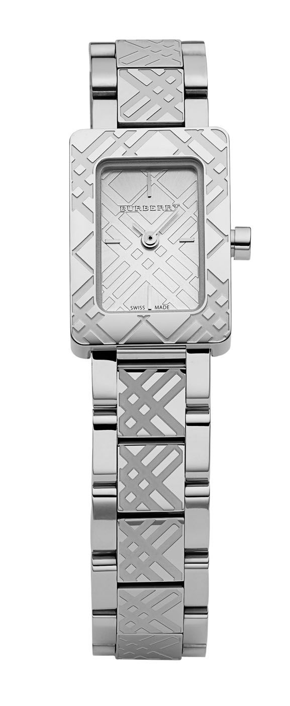 Rectangular case watch