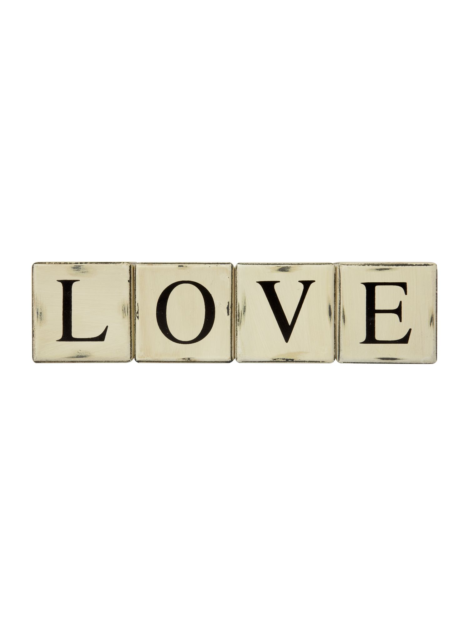 Linea Decorative wooden love blocks