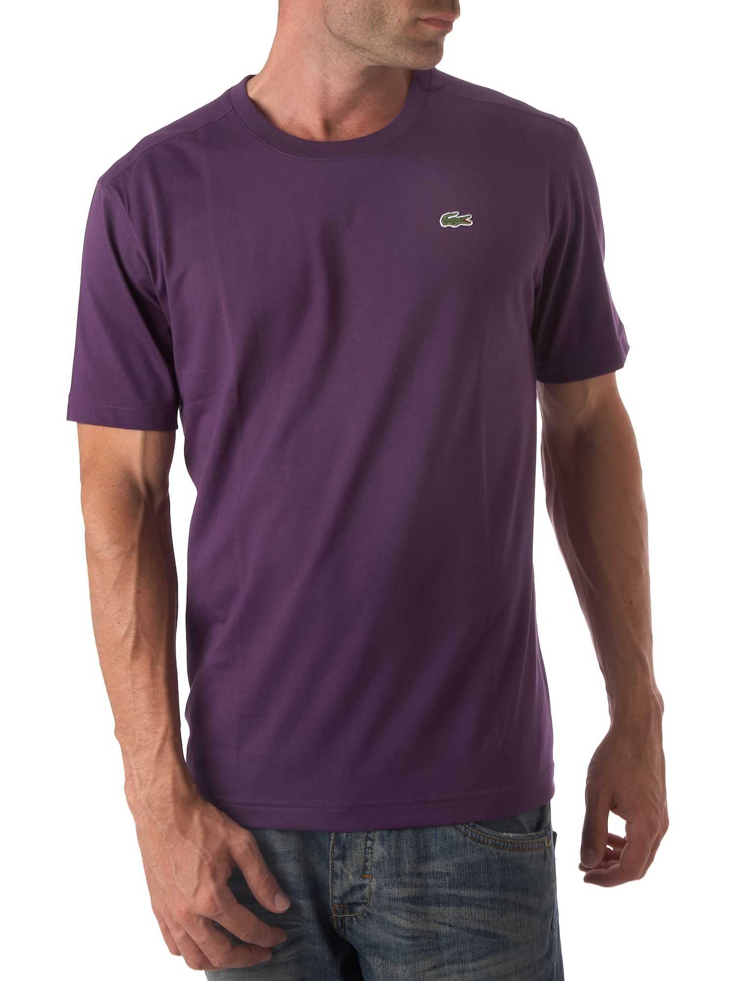 Lacoste Short sleeve basic T-shirt Purple product image