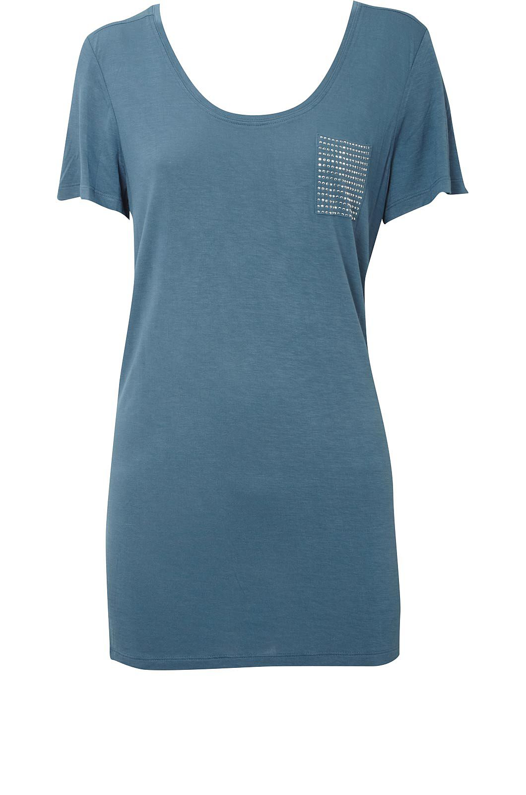 Oasis Embellished pocket tee Blue product image