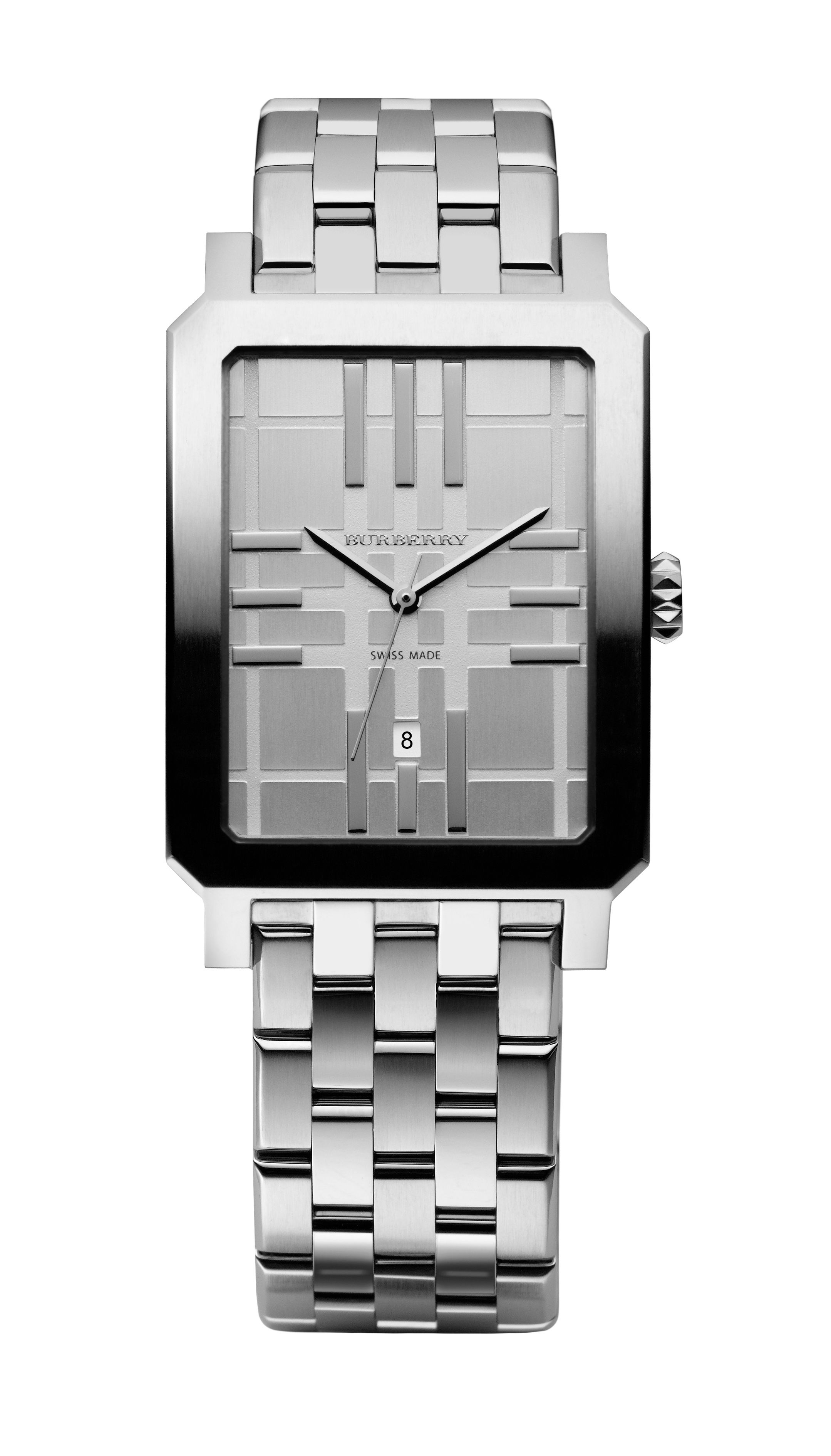 Silver dial watch