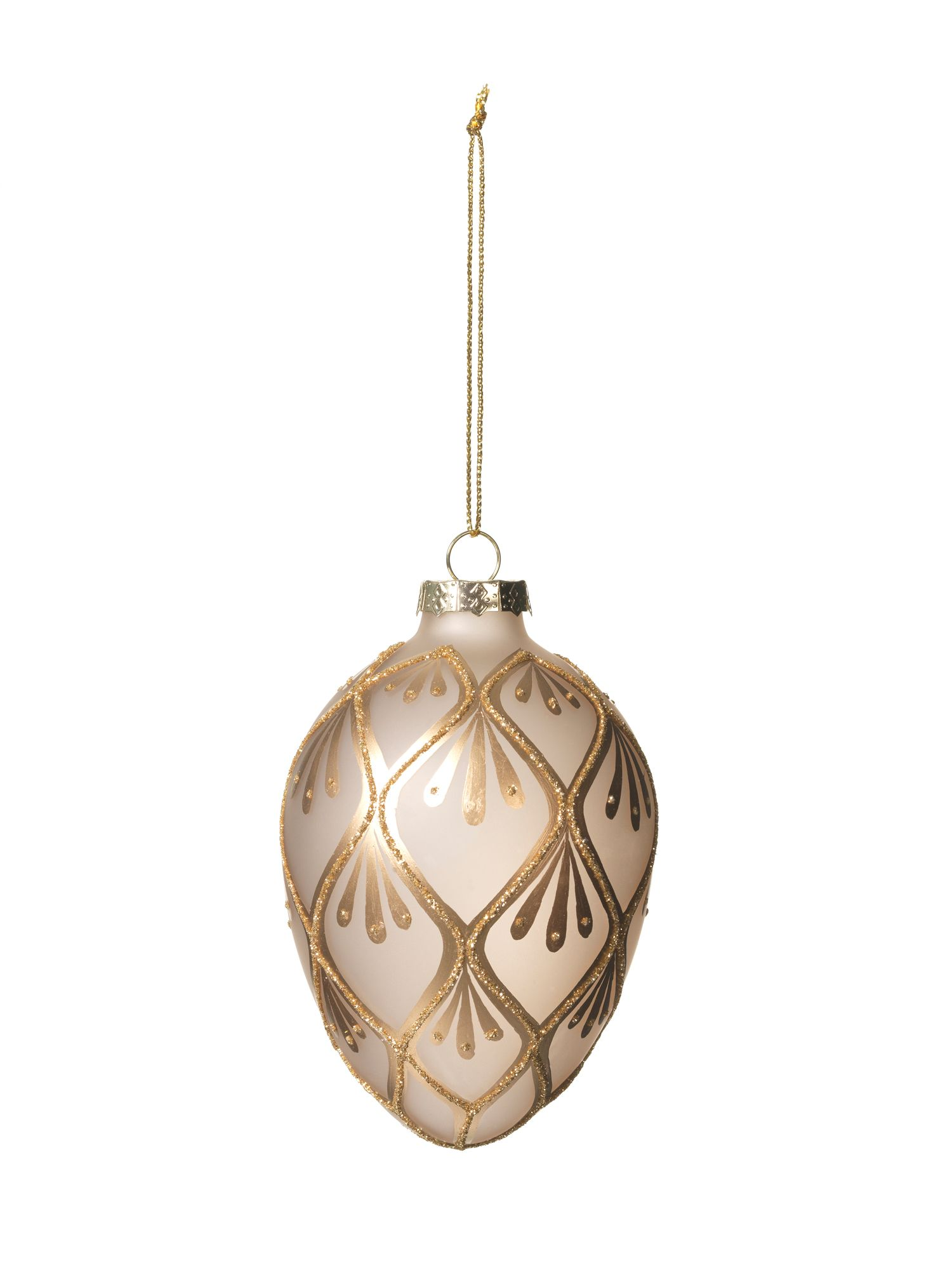 Gold egg ornament