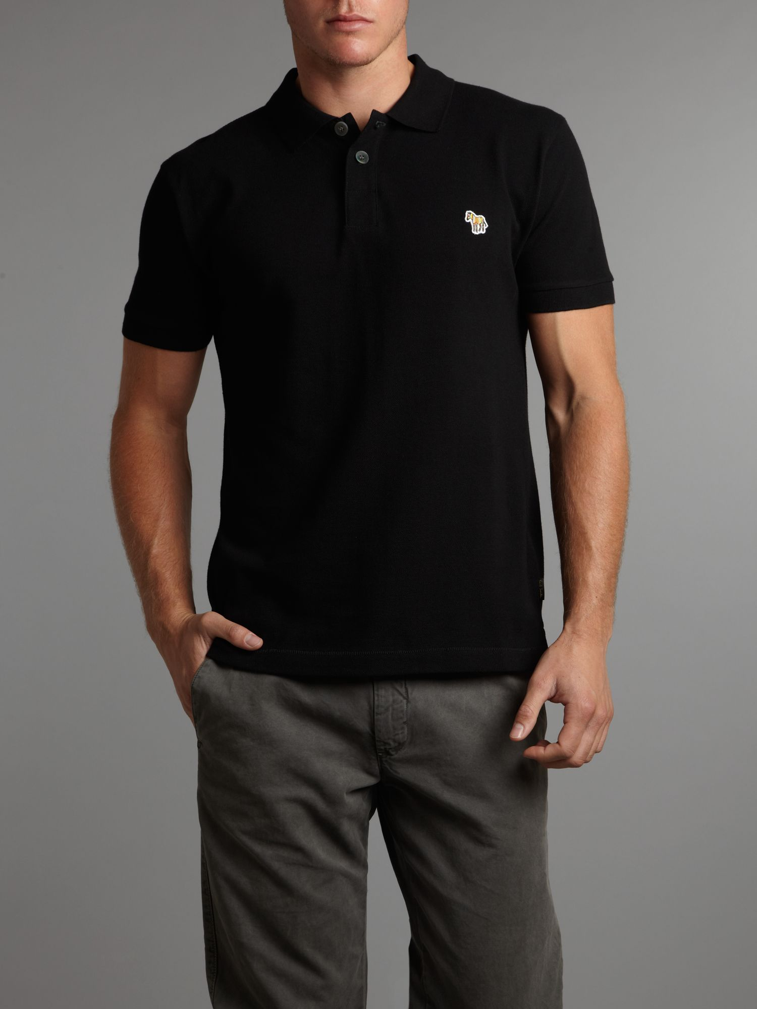 Regular zebra polo shirt