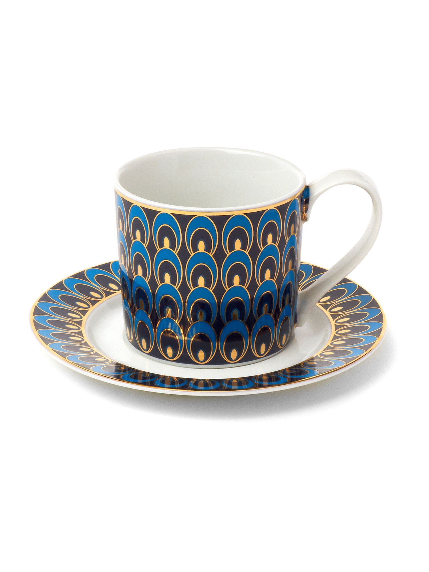 Peacock tea cup and saucer