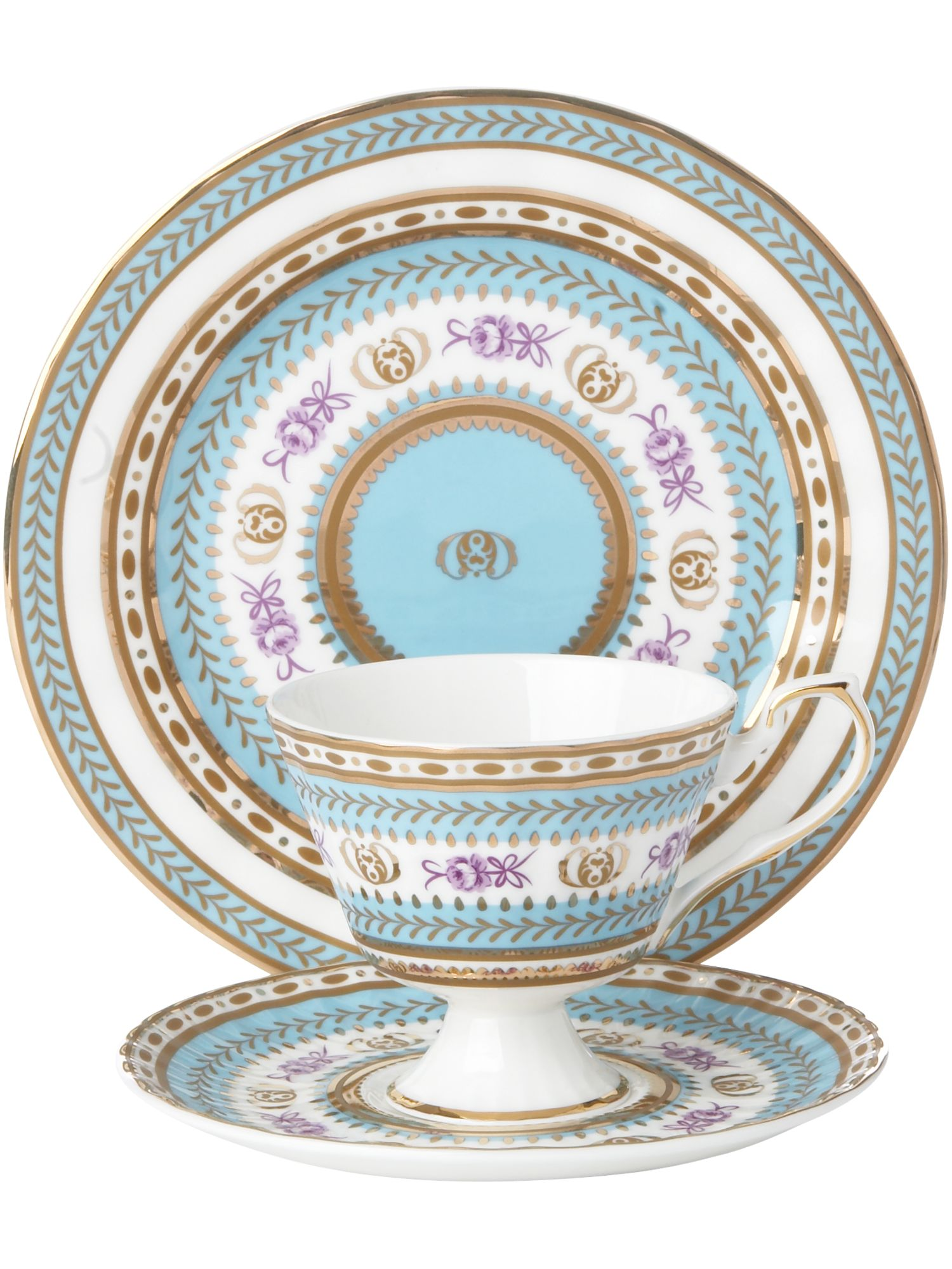 Fine bone china turquoise tea set