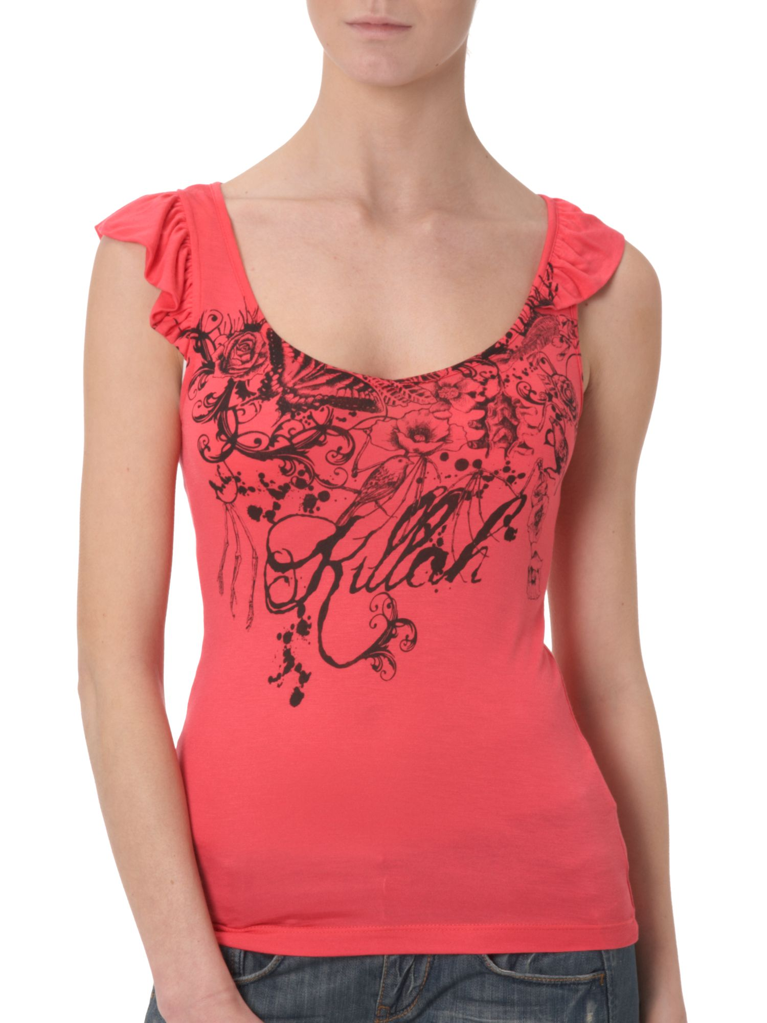 Killah Jiry scoop-neck sleeveless t-shirt product image