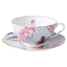Wedgwood Cuckoo teacup&saucer set blue